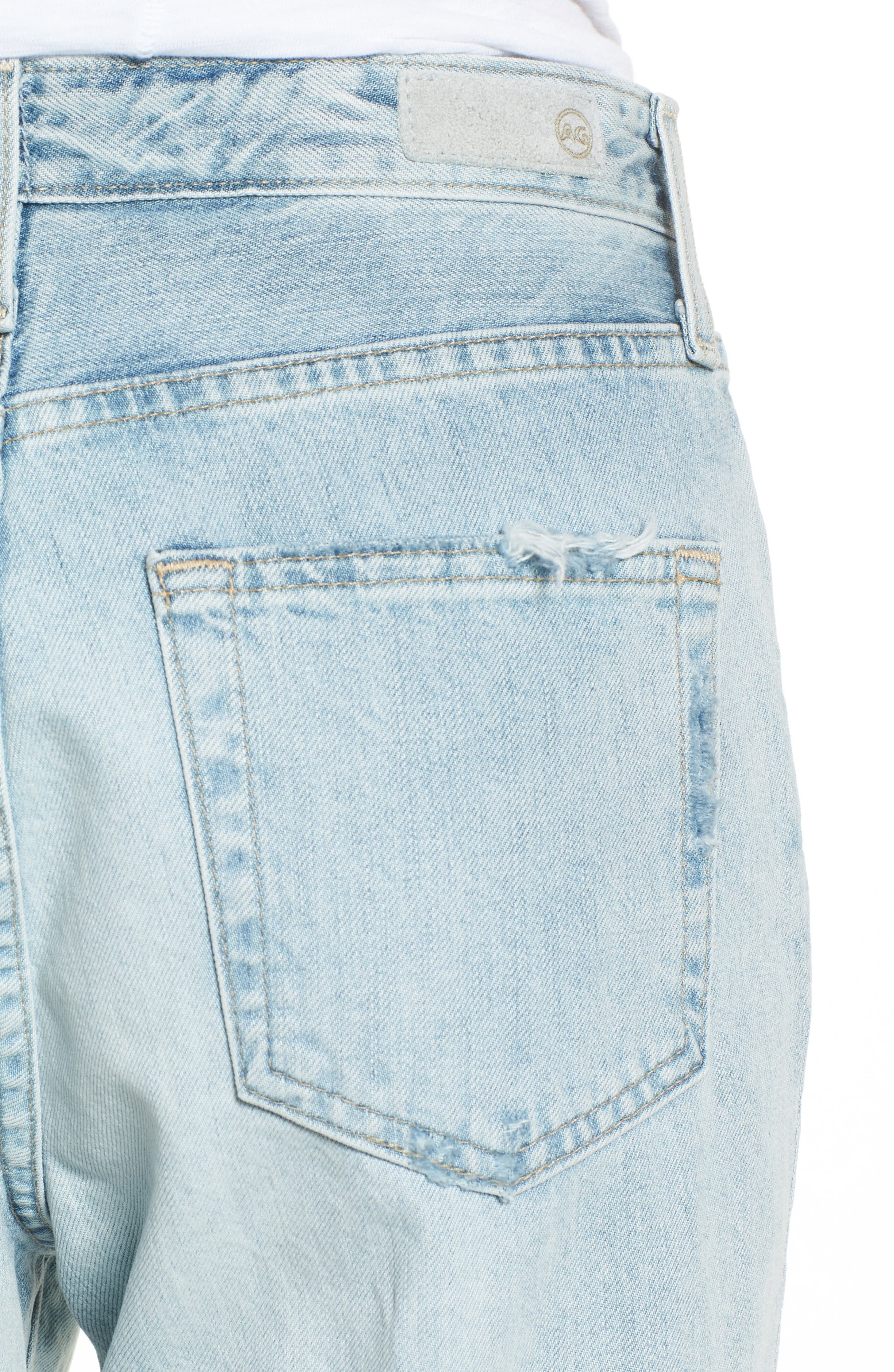 The Phoebe High Rise Straight Leg Jeans,                             Alternate thumbnail 6, color,                             Bering Wave