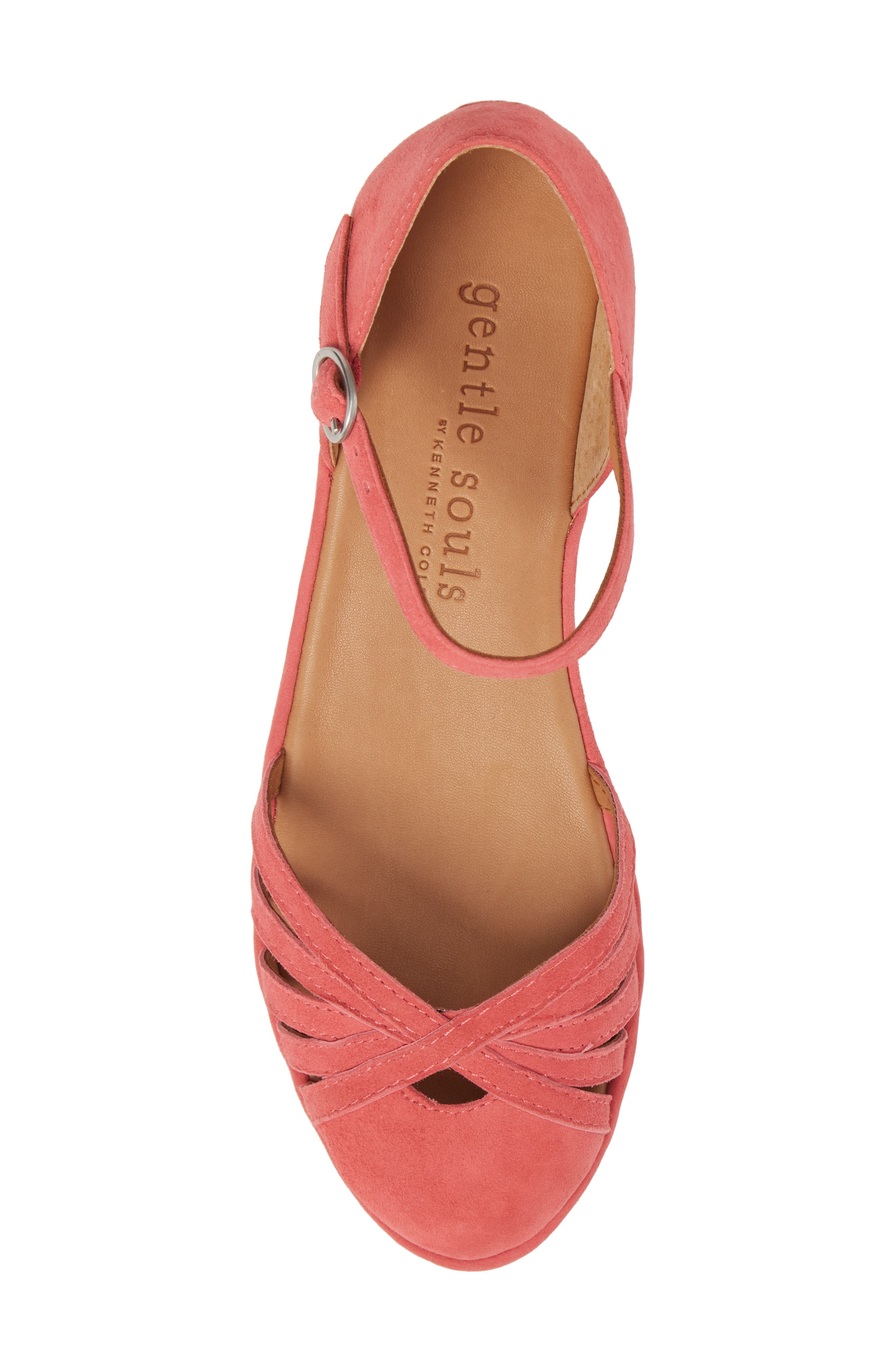 by Kenneth Cole Naira Wedge,                             Alternate thumbnail 5, color,                             Coral Suede