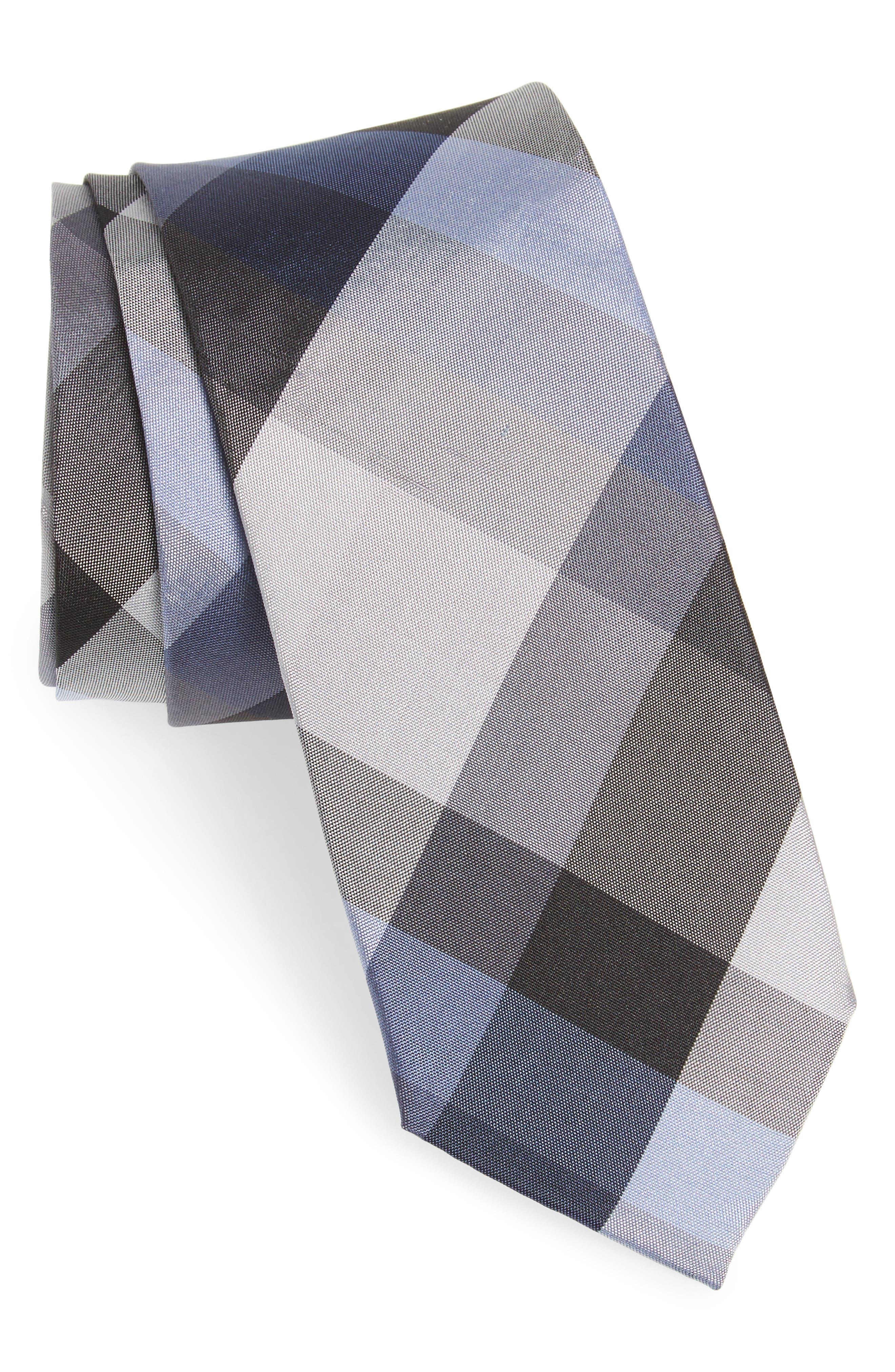 Nordstrom Men's Shop Autumn Check Silk Skinny Tie