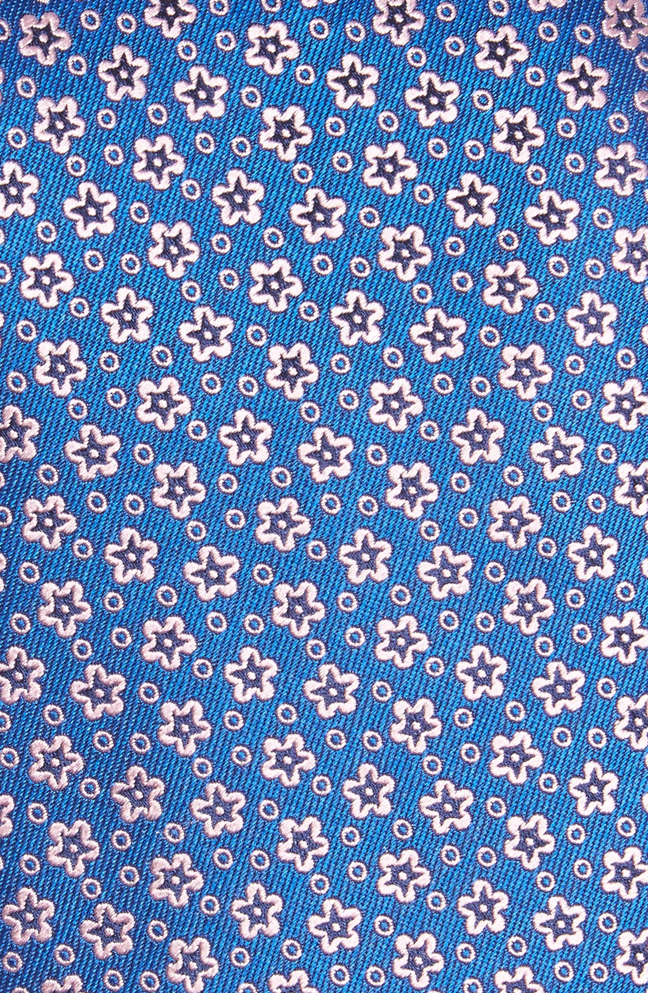 Floral Silk Tie,                             Alternate thumbnail 2, color,                             Blue