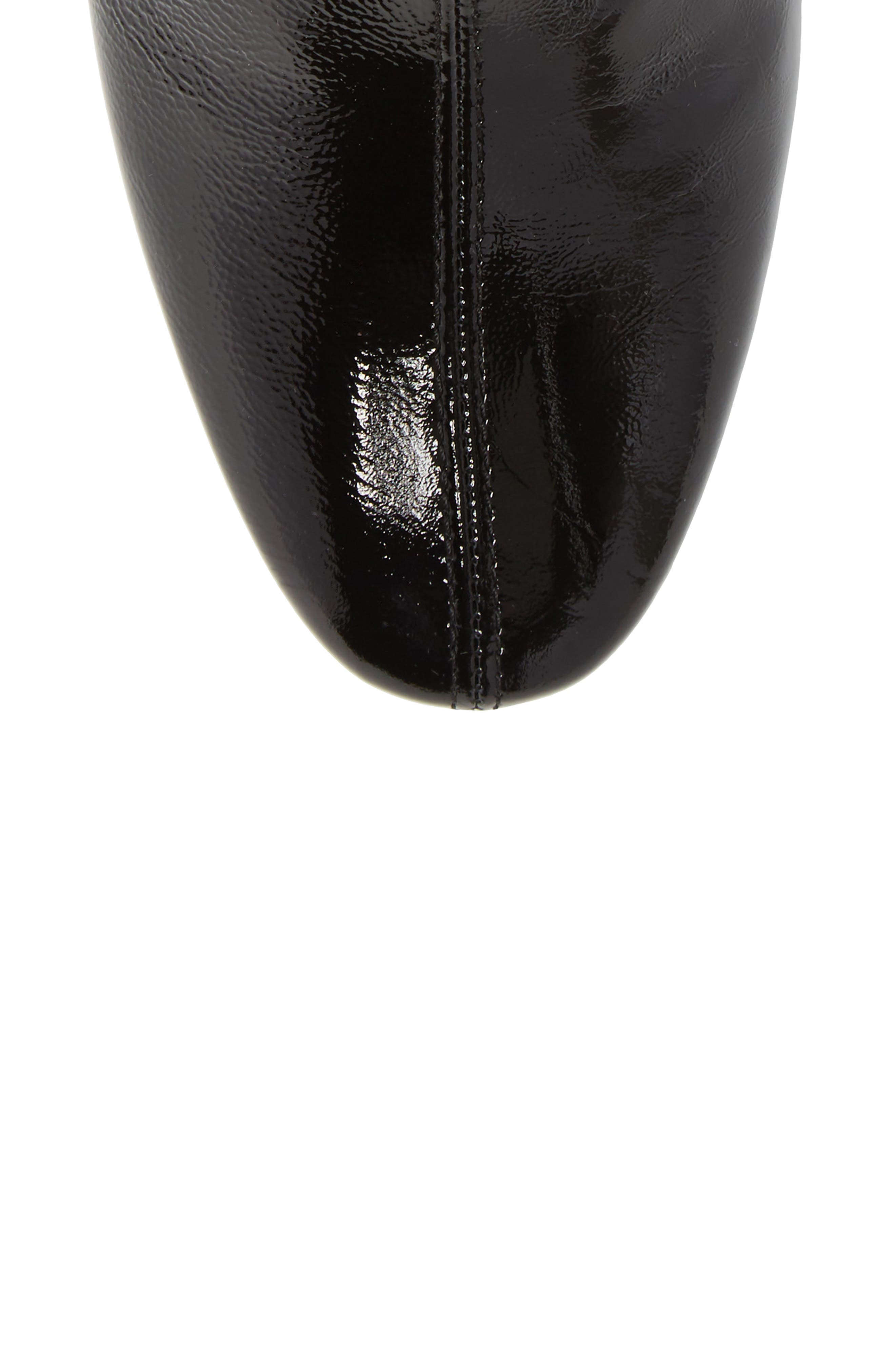 Mighty Flared Heel Bootie,                             Alternate thumbnail 5, color,                             Black