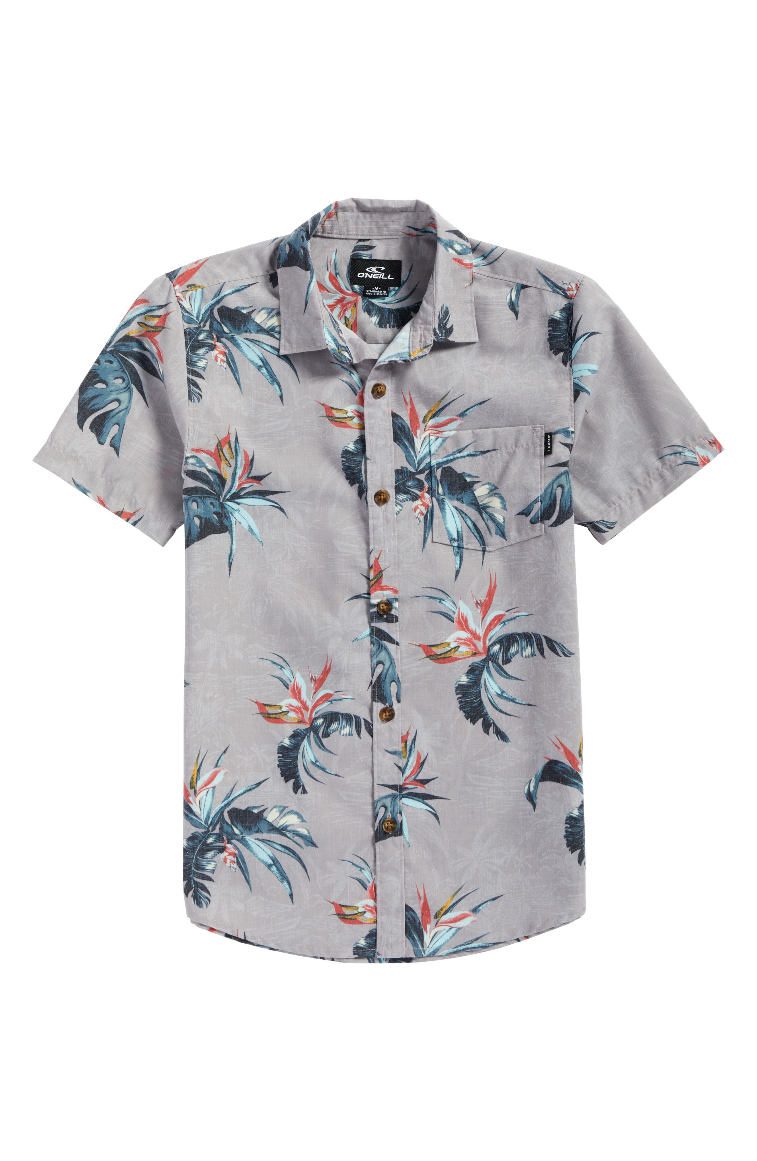 Alternate Image 4  - O'Neill Islander Floral Print Woven Shirt (Big Boys)