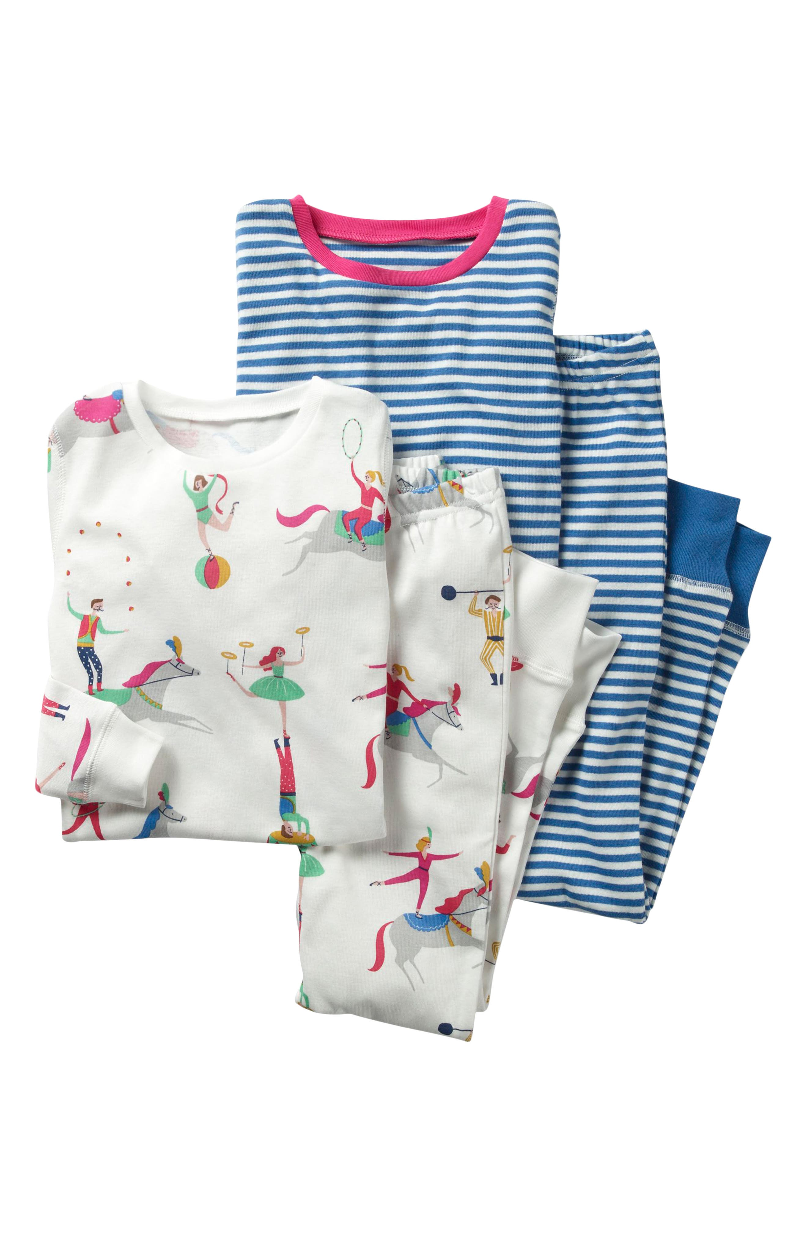 Mini Boden Two-Pack Fitted Two-Piece Pajamas (Toddler Girls, Little Girls & Big Girls)
