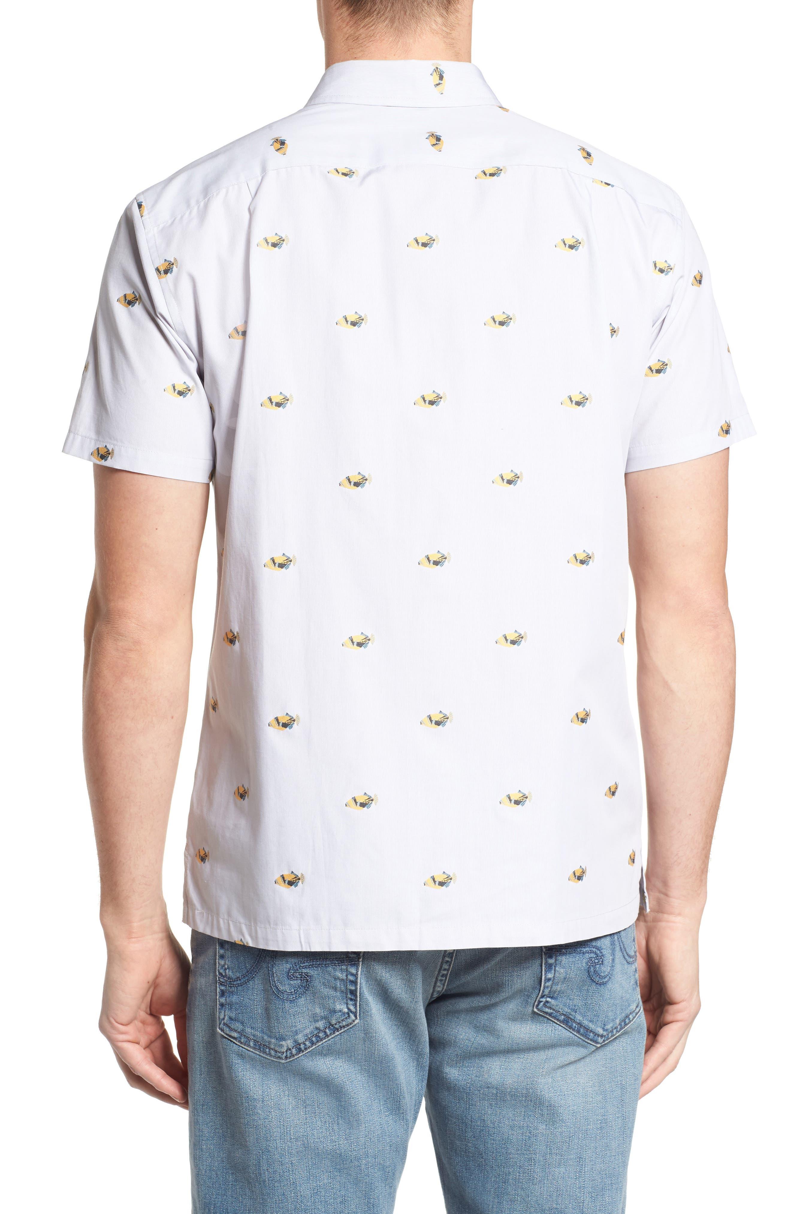 Alternate Image 2  - Tori Richard 1Humu 2Humu Embroidered Sport Shirt