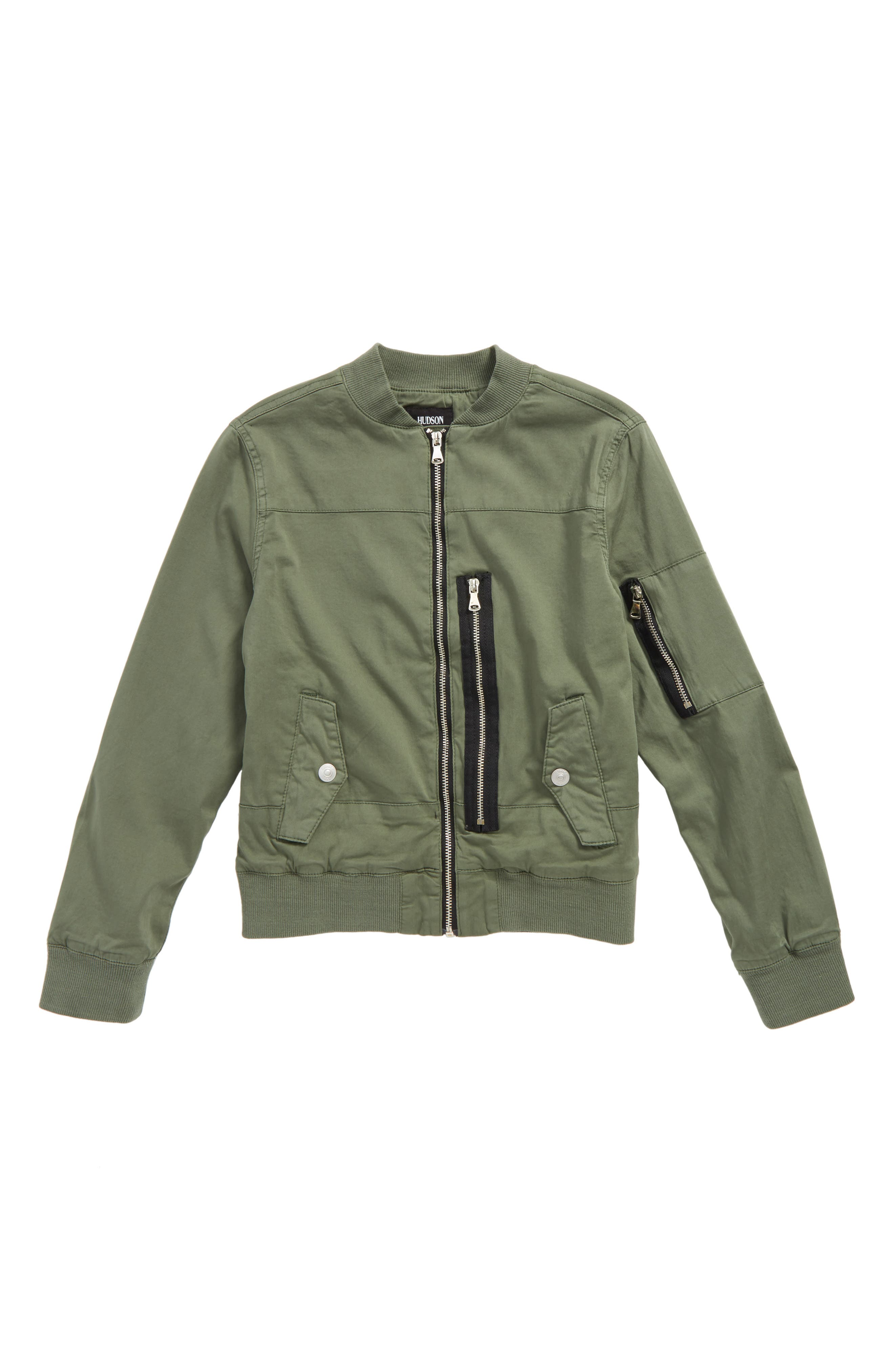 Knox Utility Bomber Jacket,                         Main,                         color, Militant