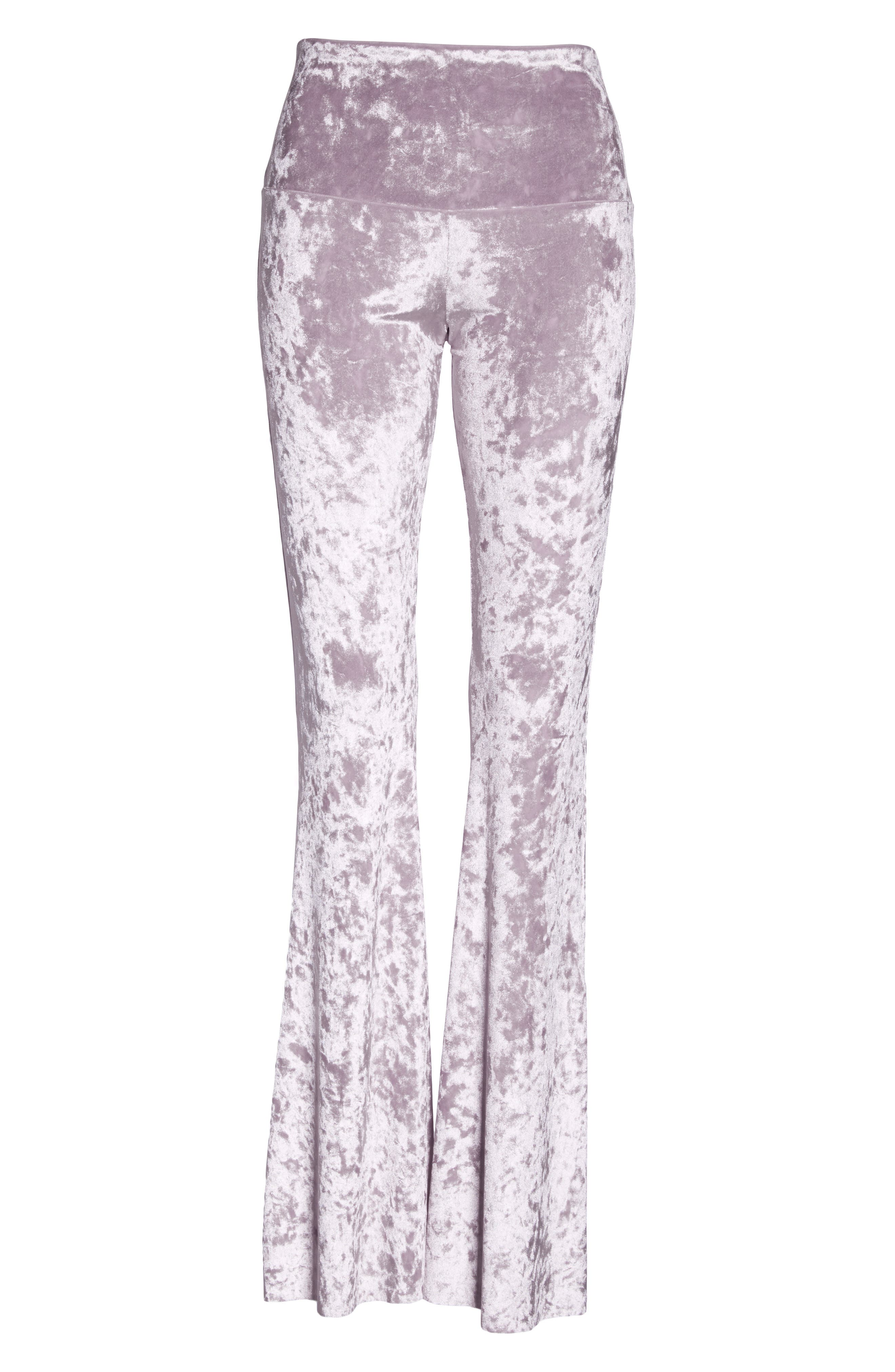 Flare Leg Yoga Pants,                         Main,                         color, Mist Crushed Velvet