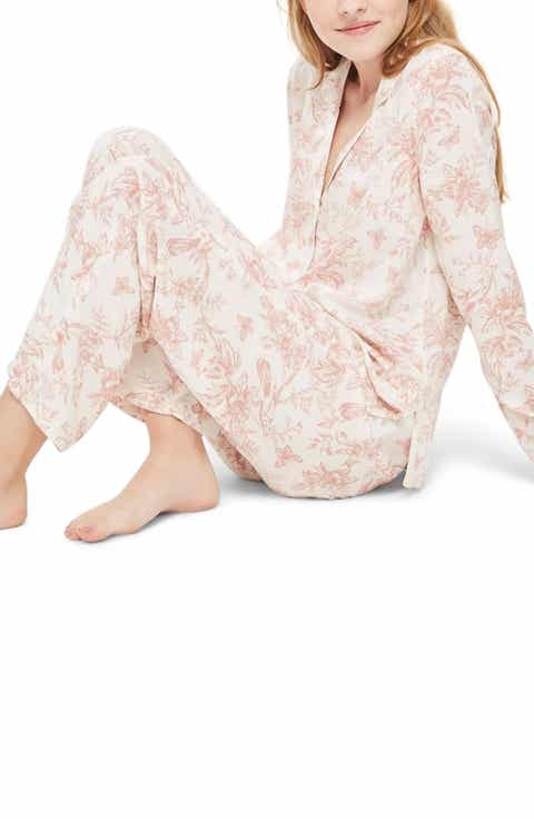 Topshop French Floral Pajamas