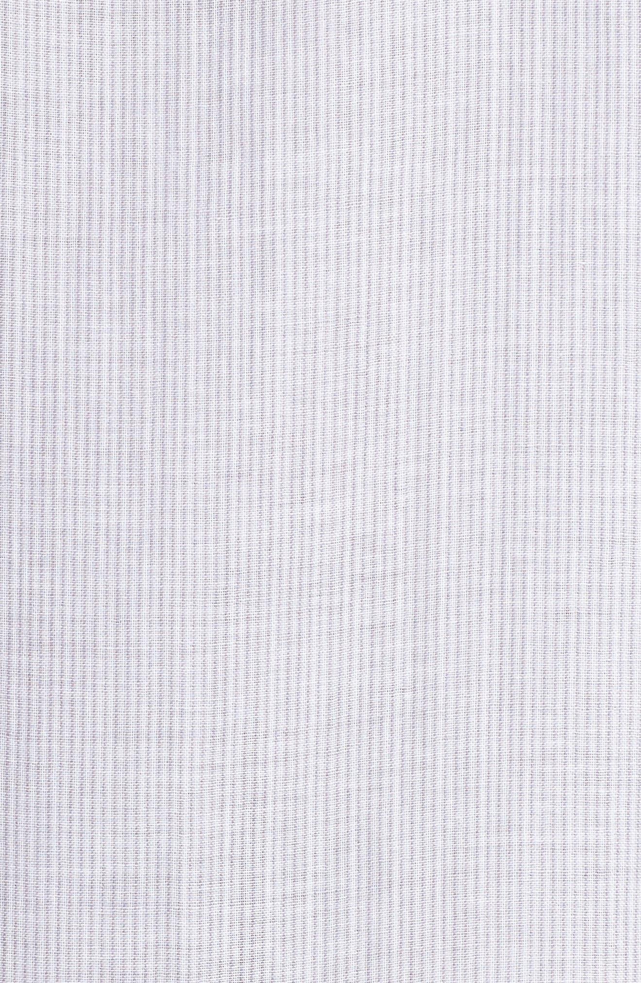 Stripe Sleep Shirt,                             Alternate thumbnail 6, color,                             Grey/ White