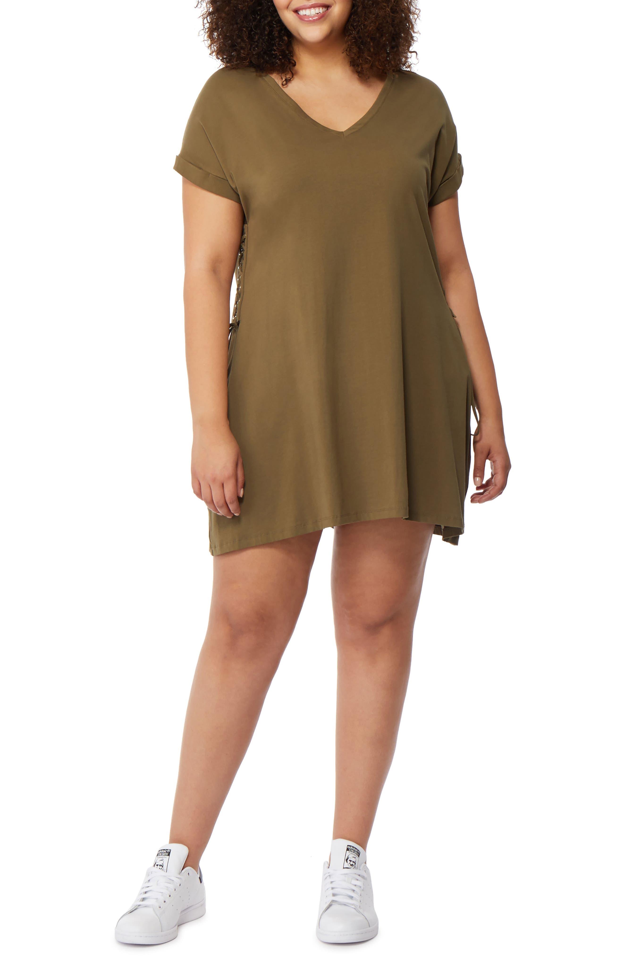 Rebel Wilson x Angels Corset Side T-Shirt Dress (Plus Size)