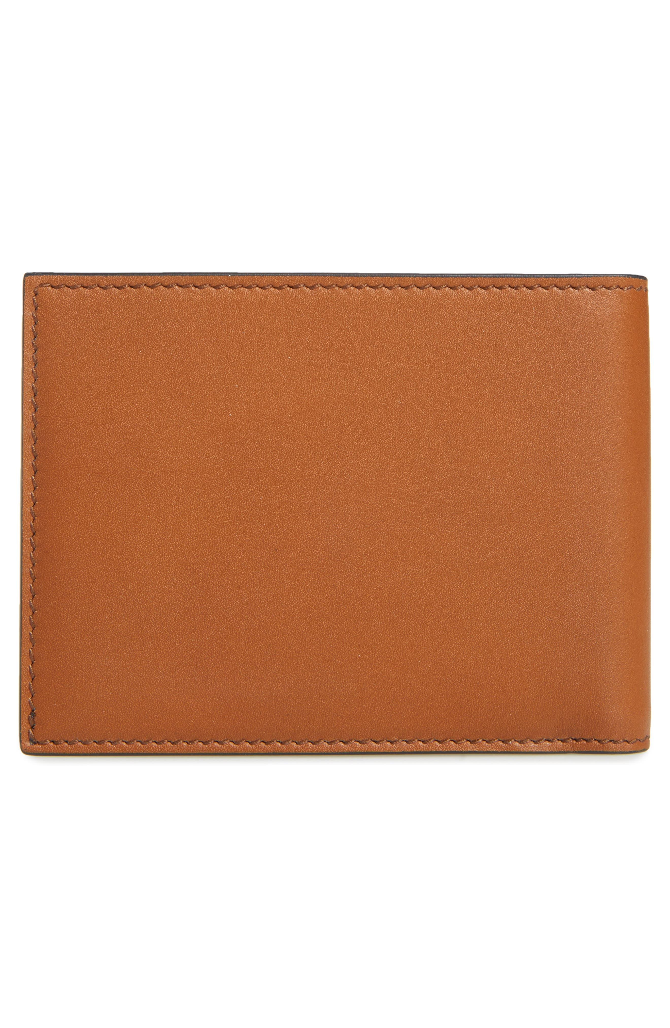 Calfskin Leather Bifold Wallet,                             Alternate thumbnail 3, color,                             Radica