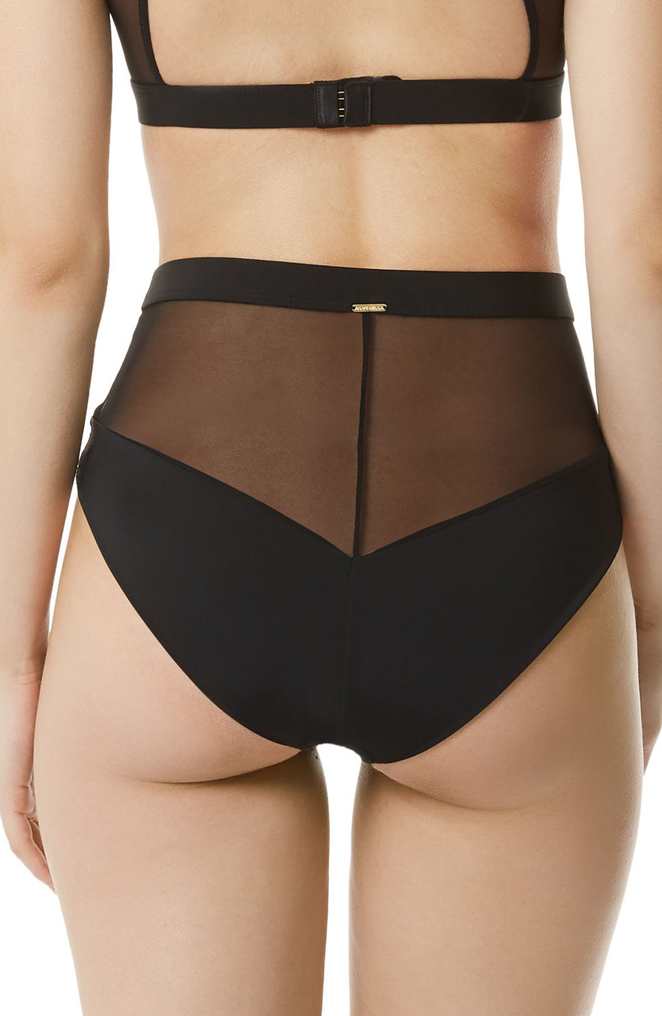 Reed High Waist Briefs,                             Alternate thumbnail 2, color,                             Black