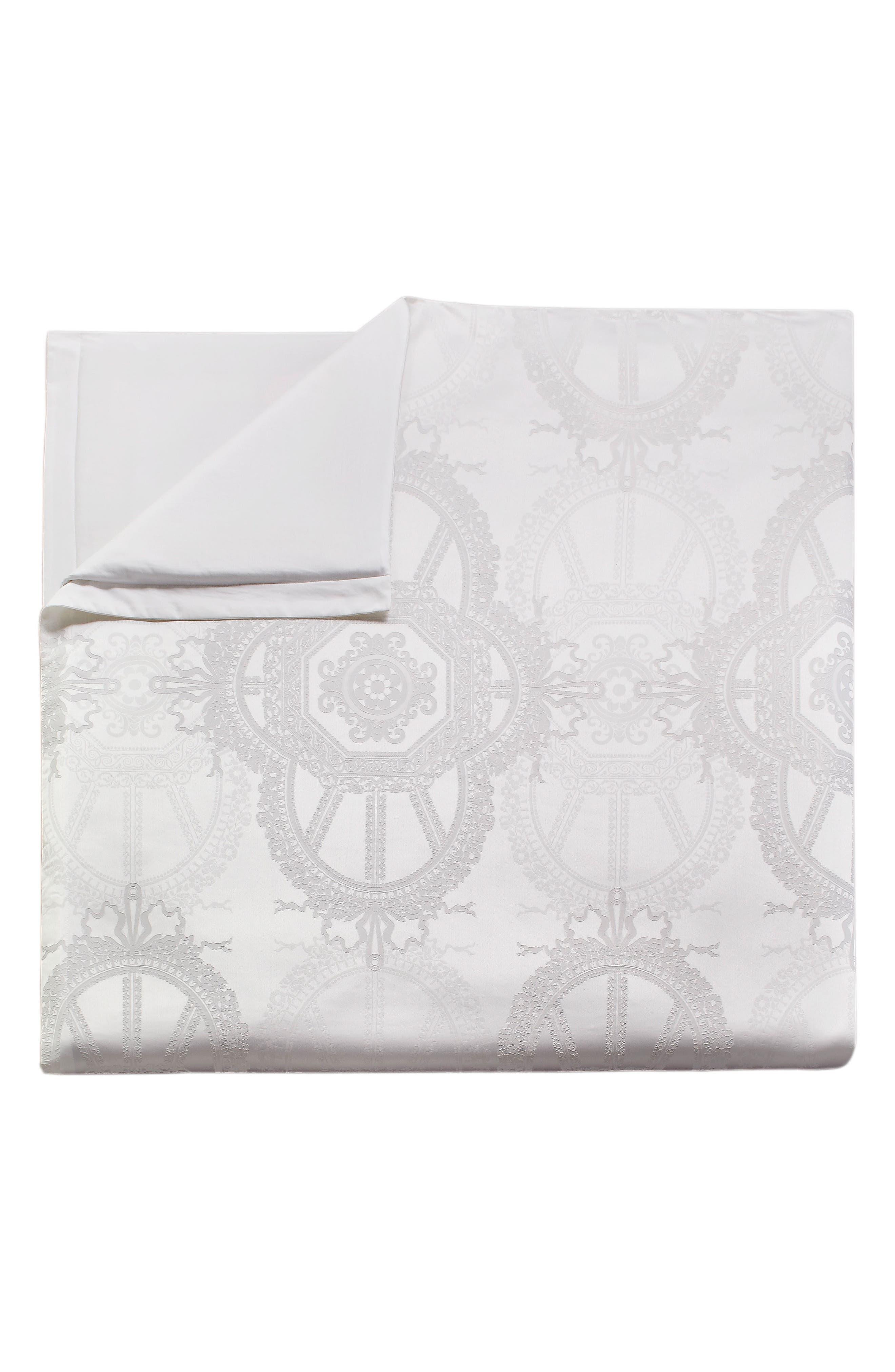 Versailles Duvet Cover & Sham Set,                             Alternate thumbnail 8, color,                             White