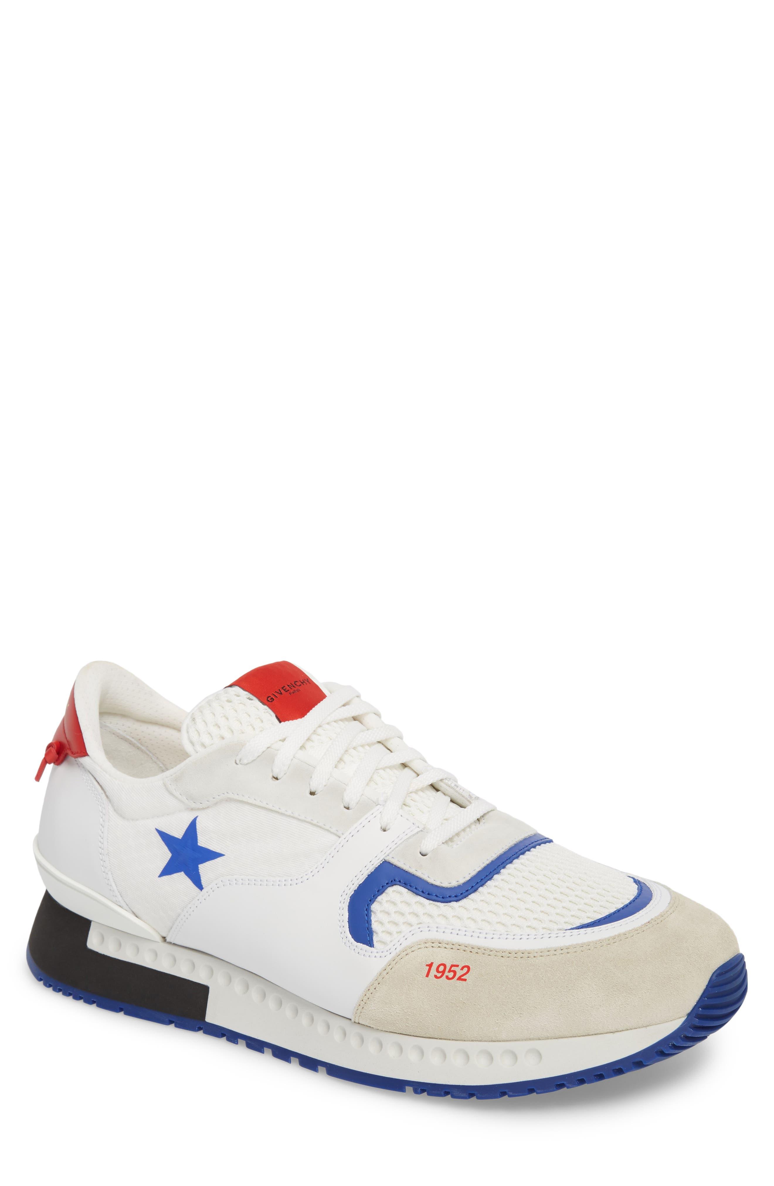 1952 Star Active Runner Sneaker,                             Main thumbnail 1, color,                             White/ Red