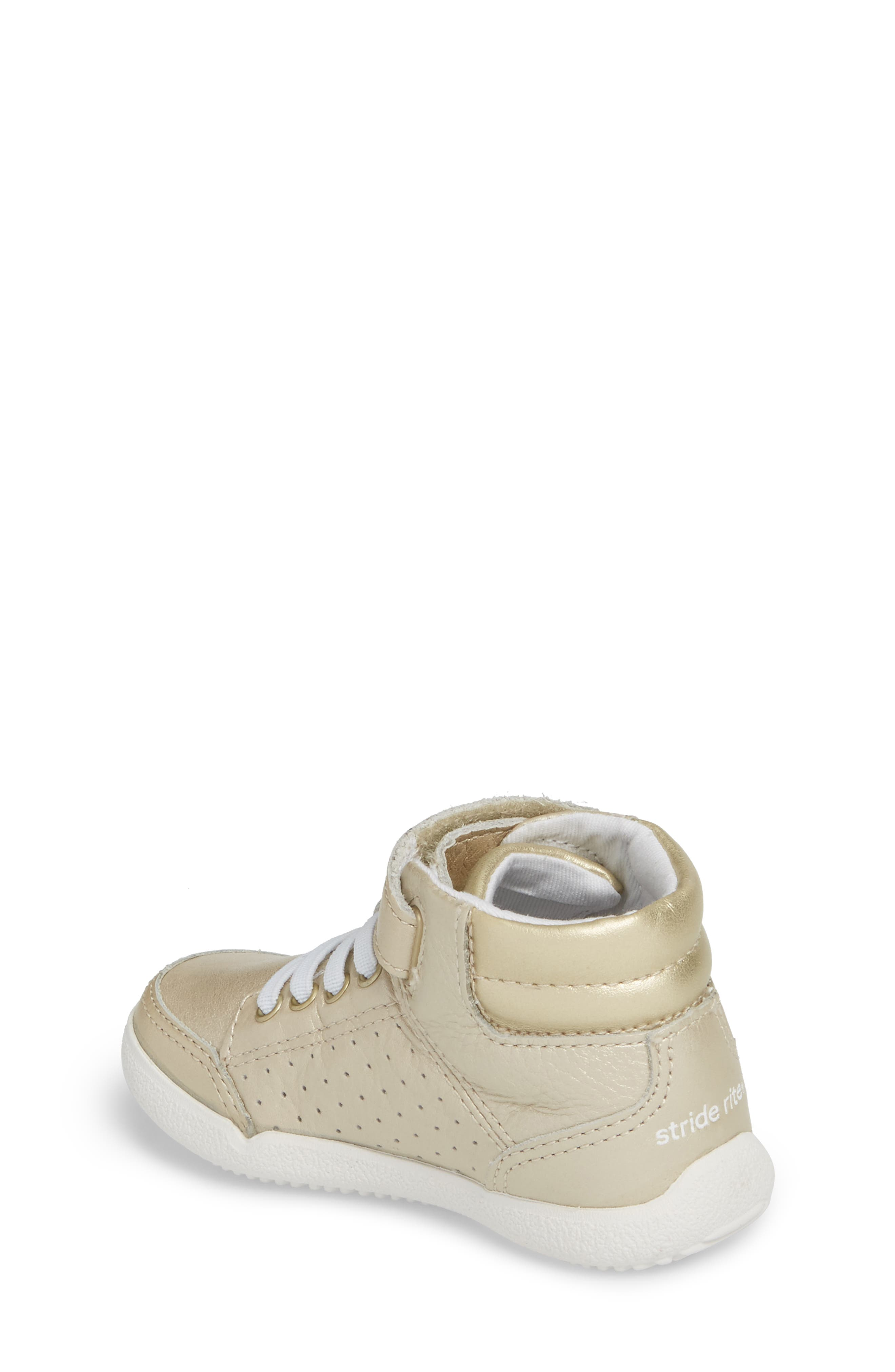 Stone High Top Sneaker,                             Alternate thumbnail 2, color,                             Champagne Leather