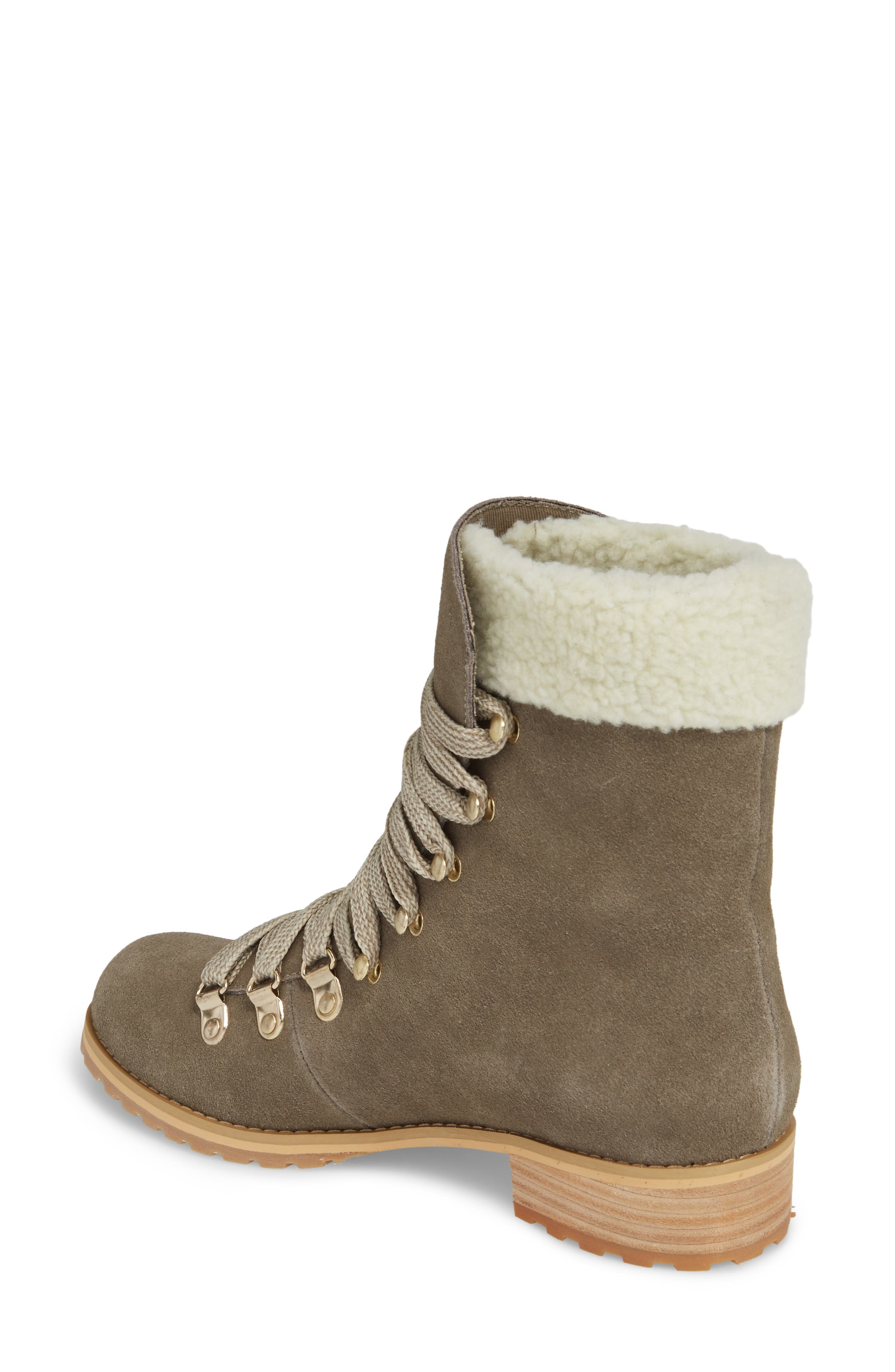 Faux Shearling Trim Ada Boot,                             Alternate thumbnail 2, color,                             Mushroom
