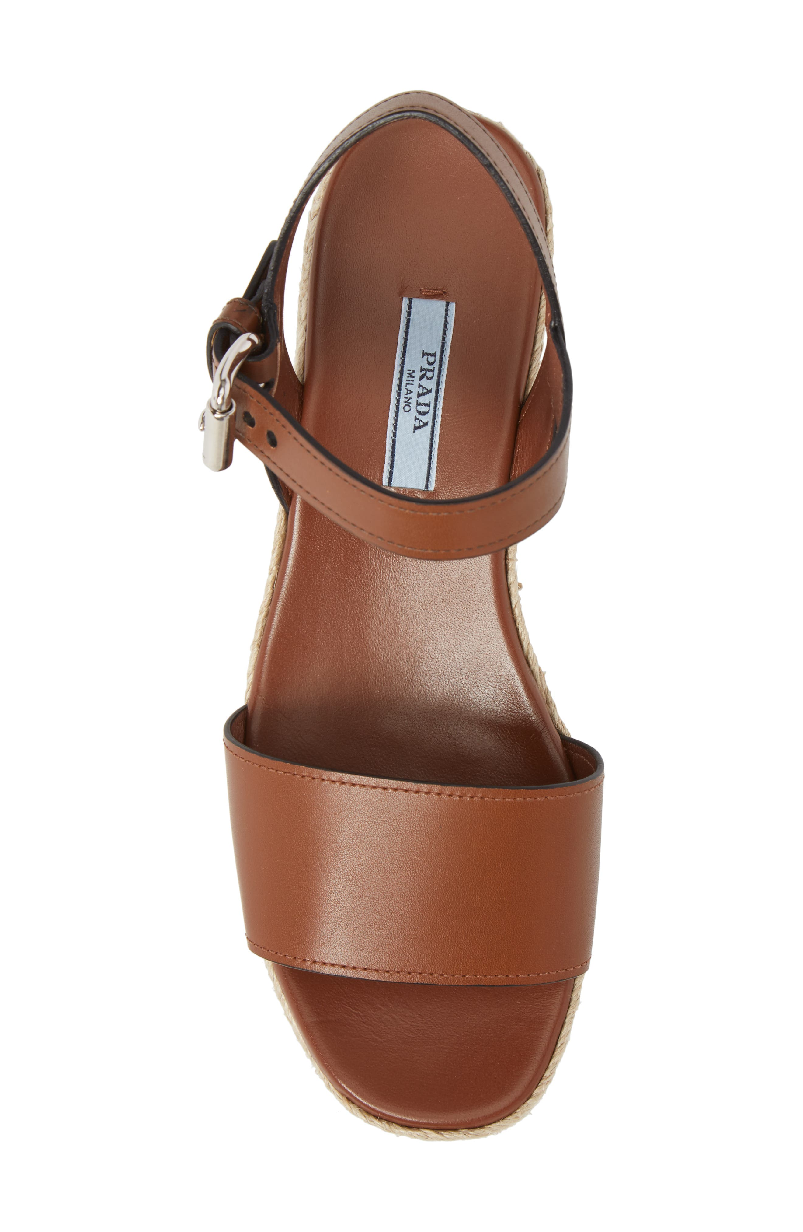 Alternate Image 5  - Prada Platform Espadrille Sandal (Women)