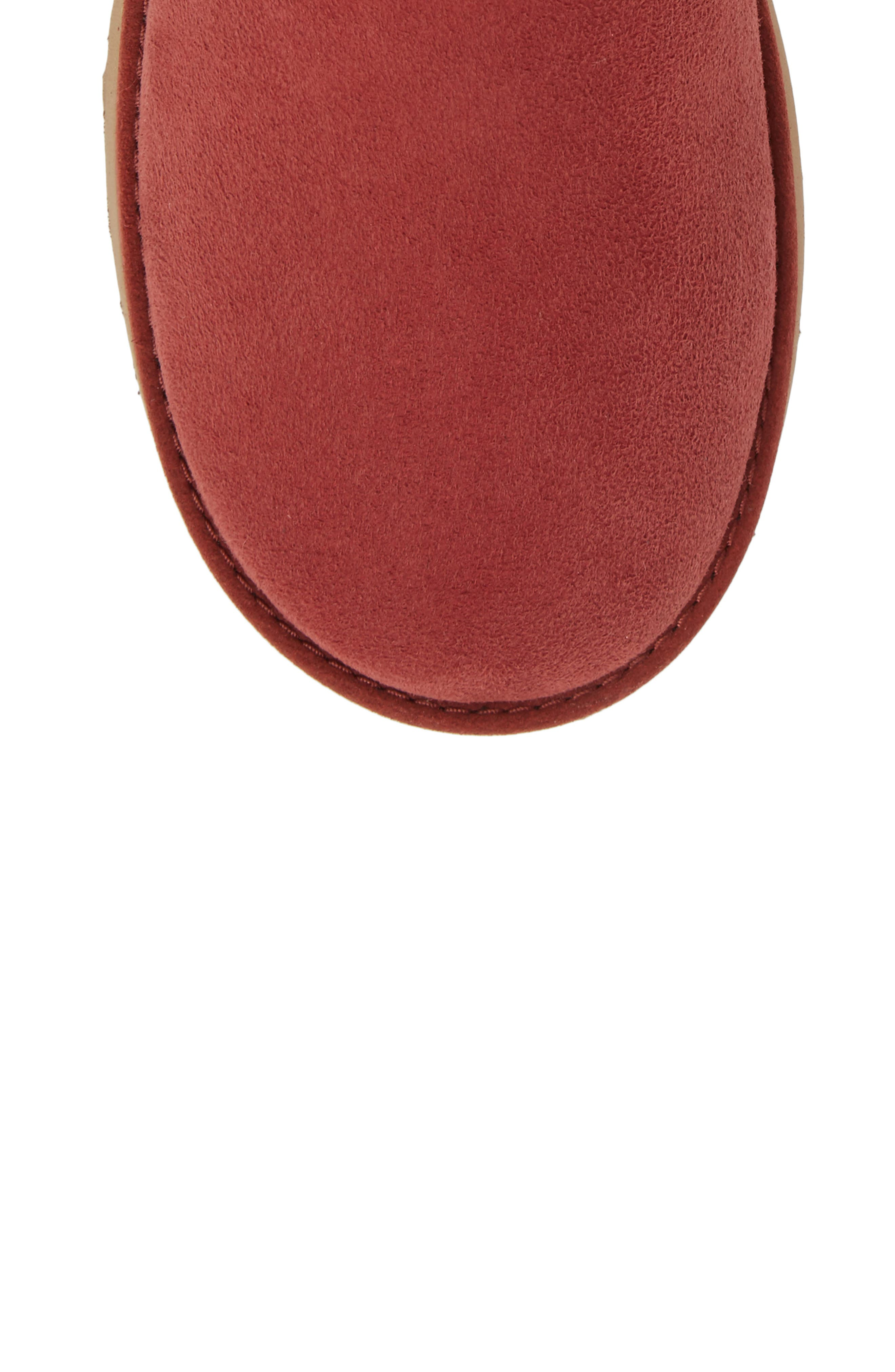 Classic Cuff Short Boot,                             Alternate thumbnail 5, color,                             Red Clay Suede