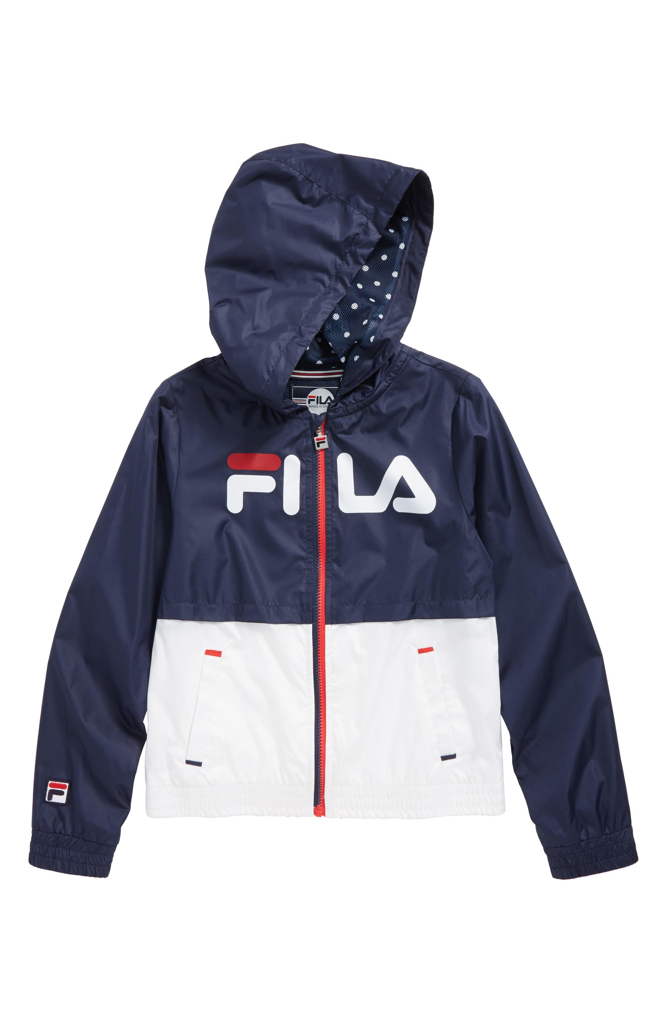 FILA Colorblock Hooded Windbreaker (Big Girls)