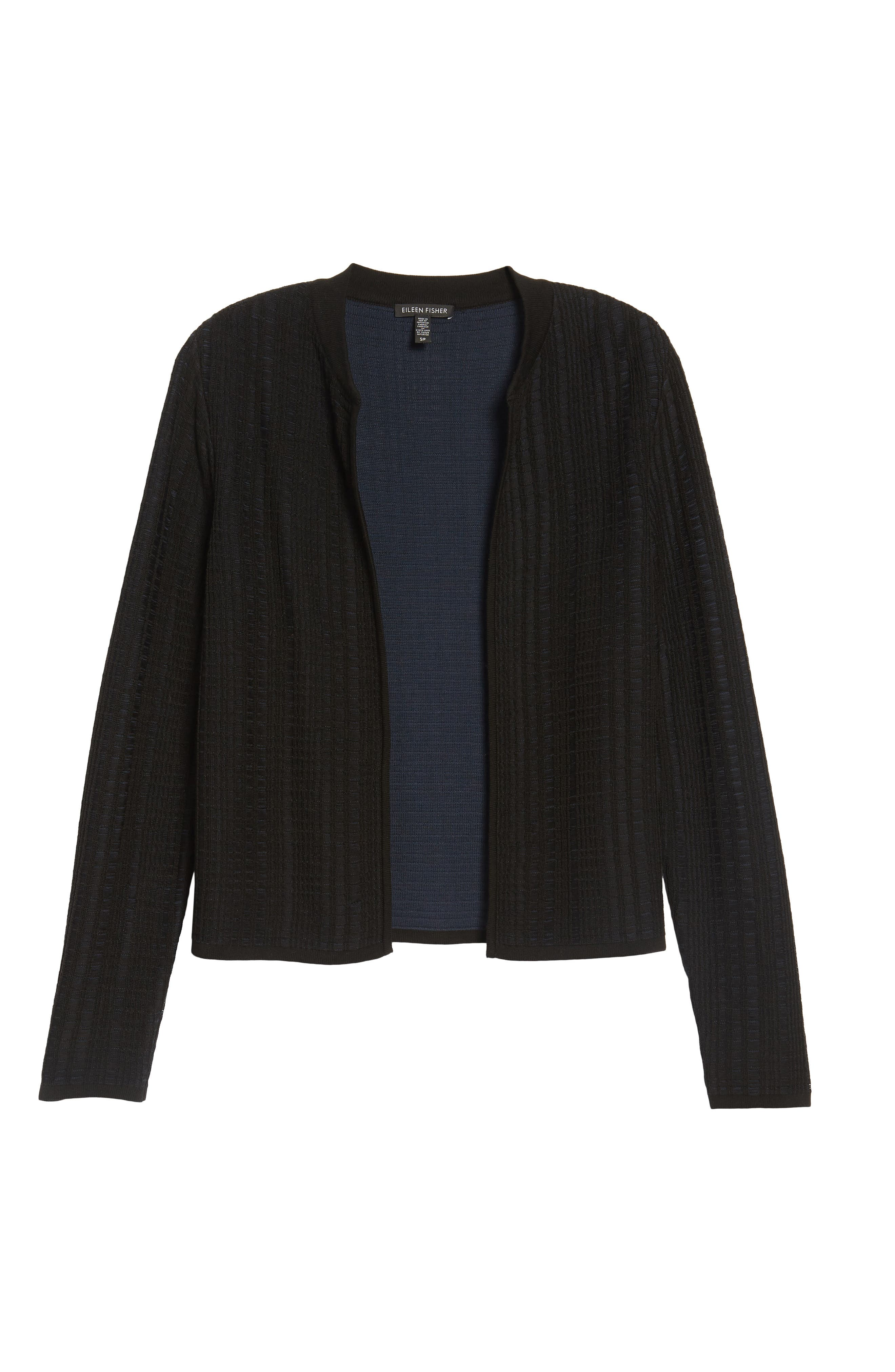 Tencel<sup>®</sup> Jacquard Jacket,                             Alternate thumbnail 6, color,                             Midnight
