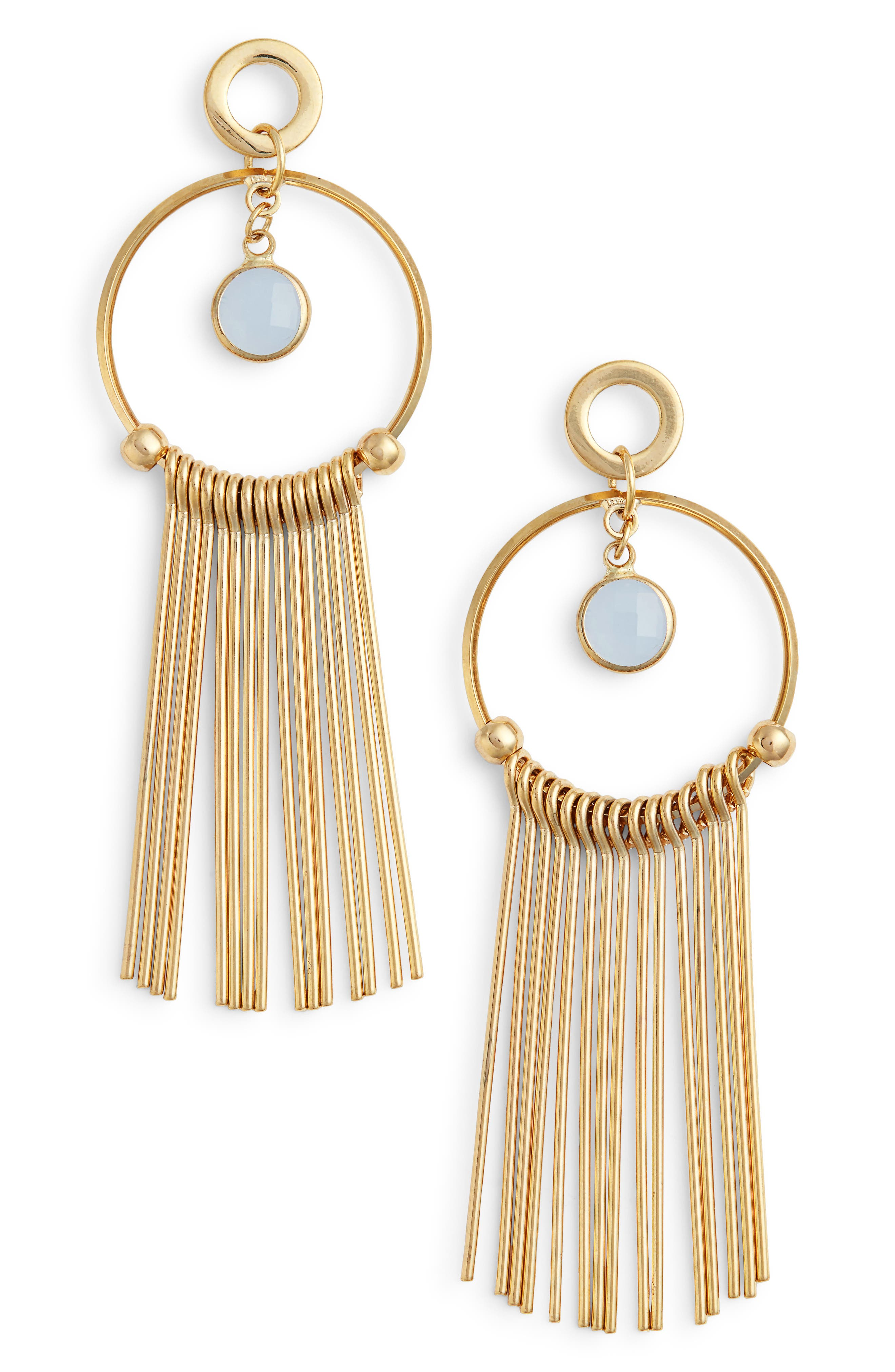 Elise M. Lilia Spike & Crystal Hoop Earrings