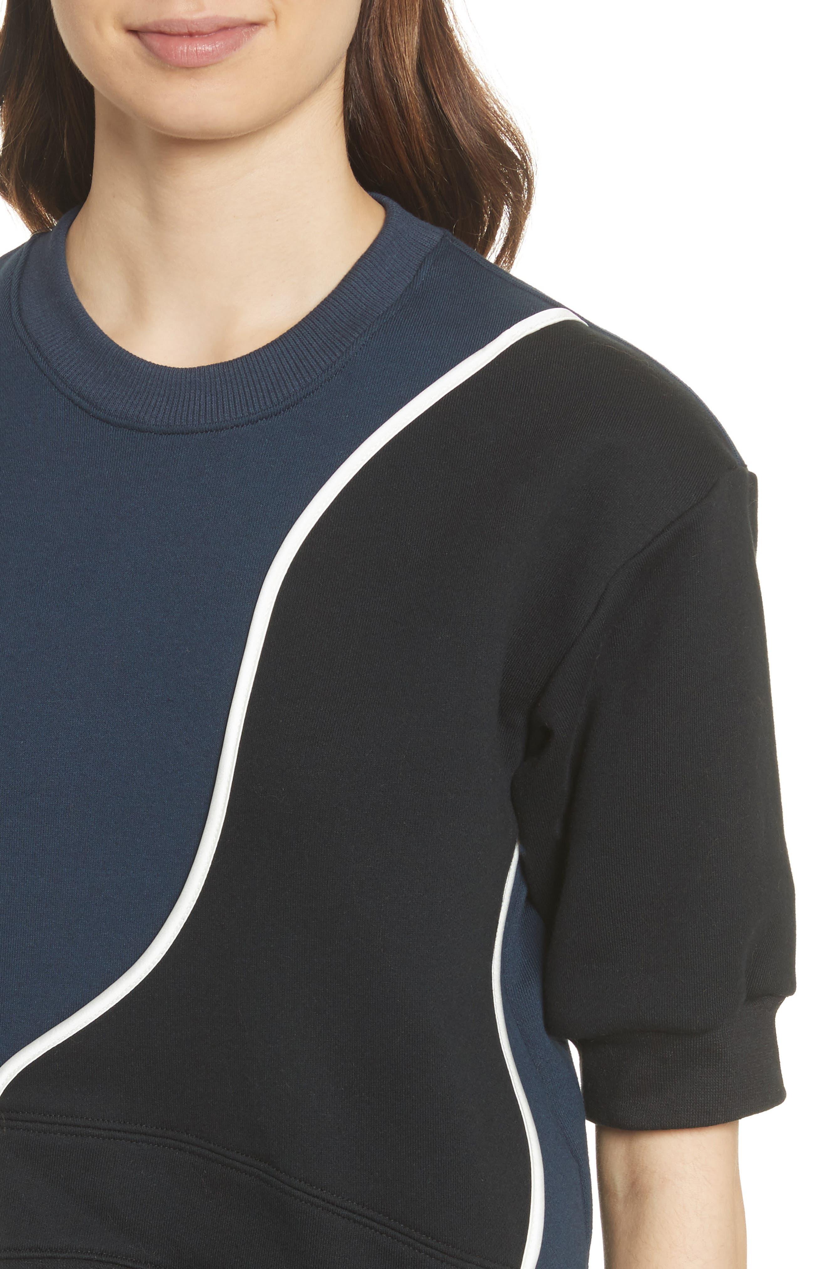Roberto 03 Colorblock Sweatshirt,                             Alternate thumbnail 4, color,                             Navy