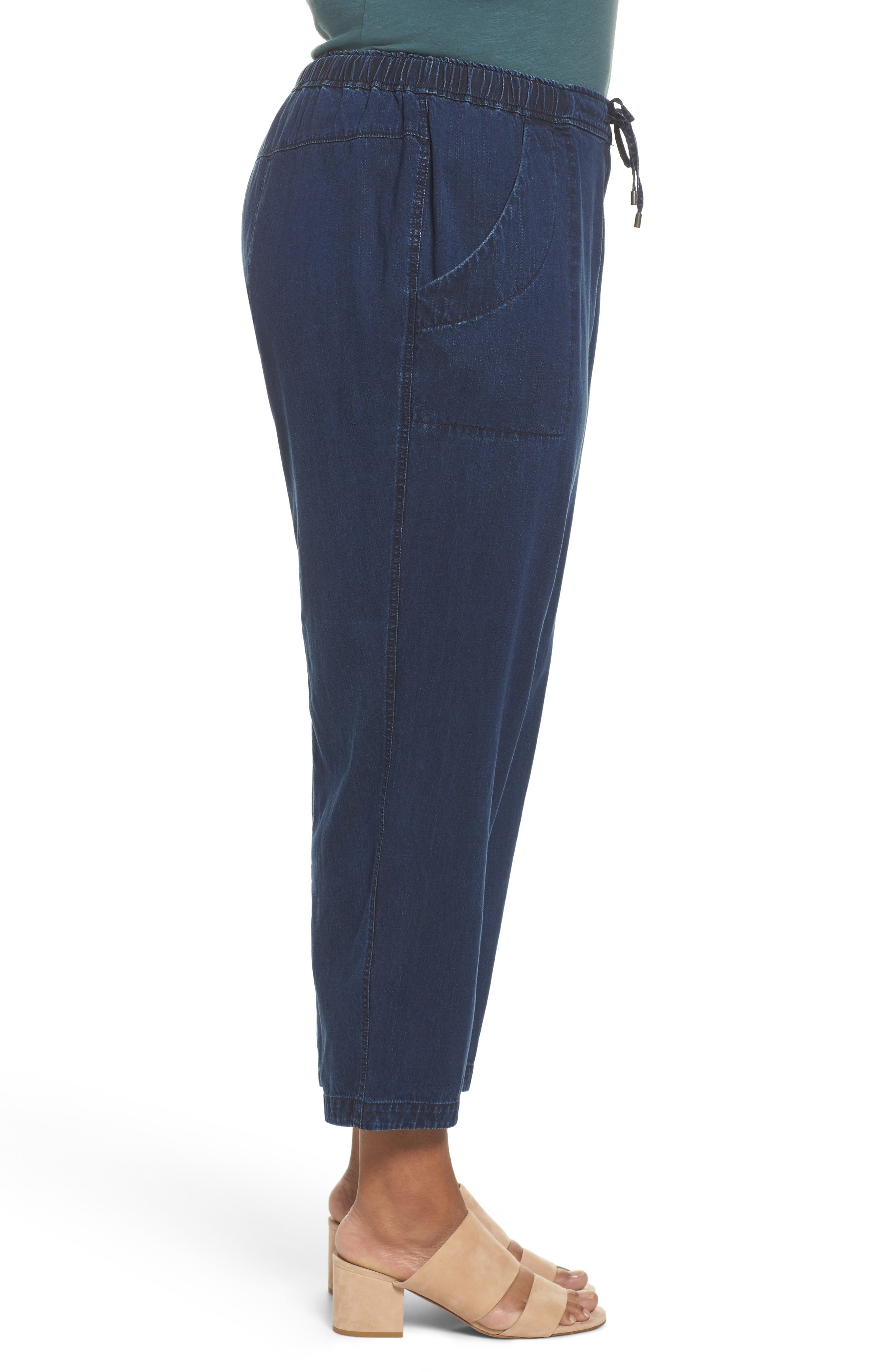 Alternate Image 3  - Eileen Fisher Slouchy Denim Ankle Pants (Plus Size)