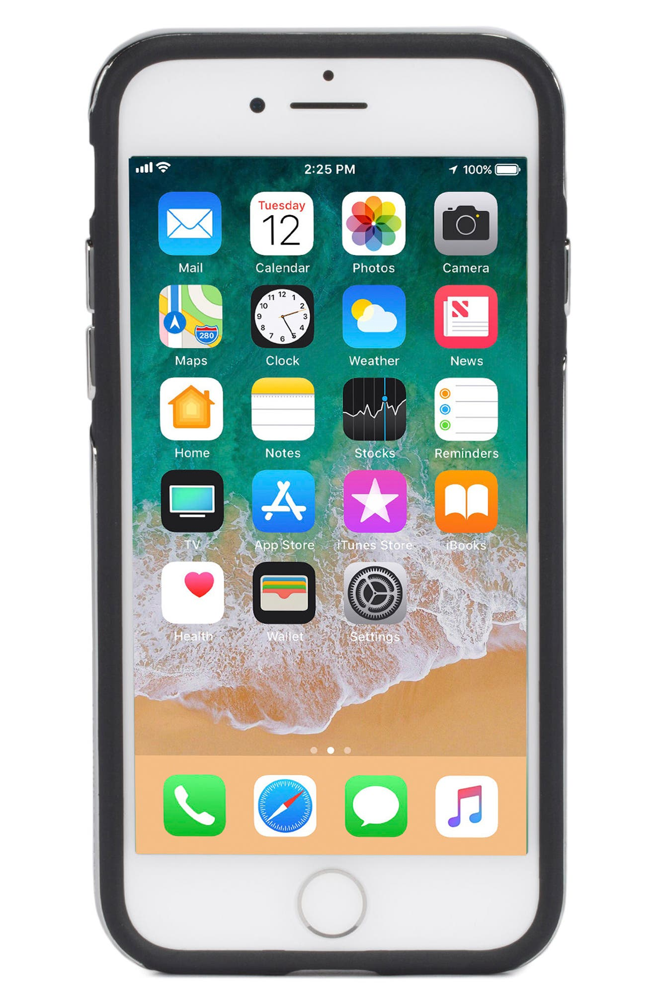 Inlay Gem Leather iPhone 7/8 Plus Case,                             Alternate thumbnail 2, color,                             Multi Gems/ Studs/ Black