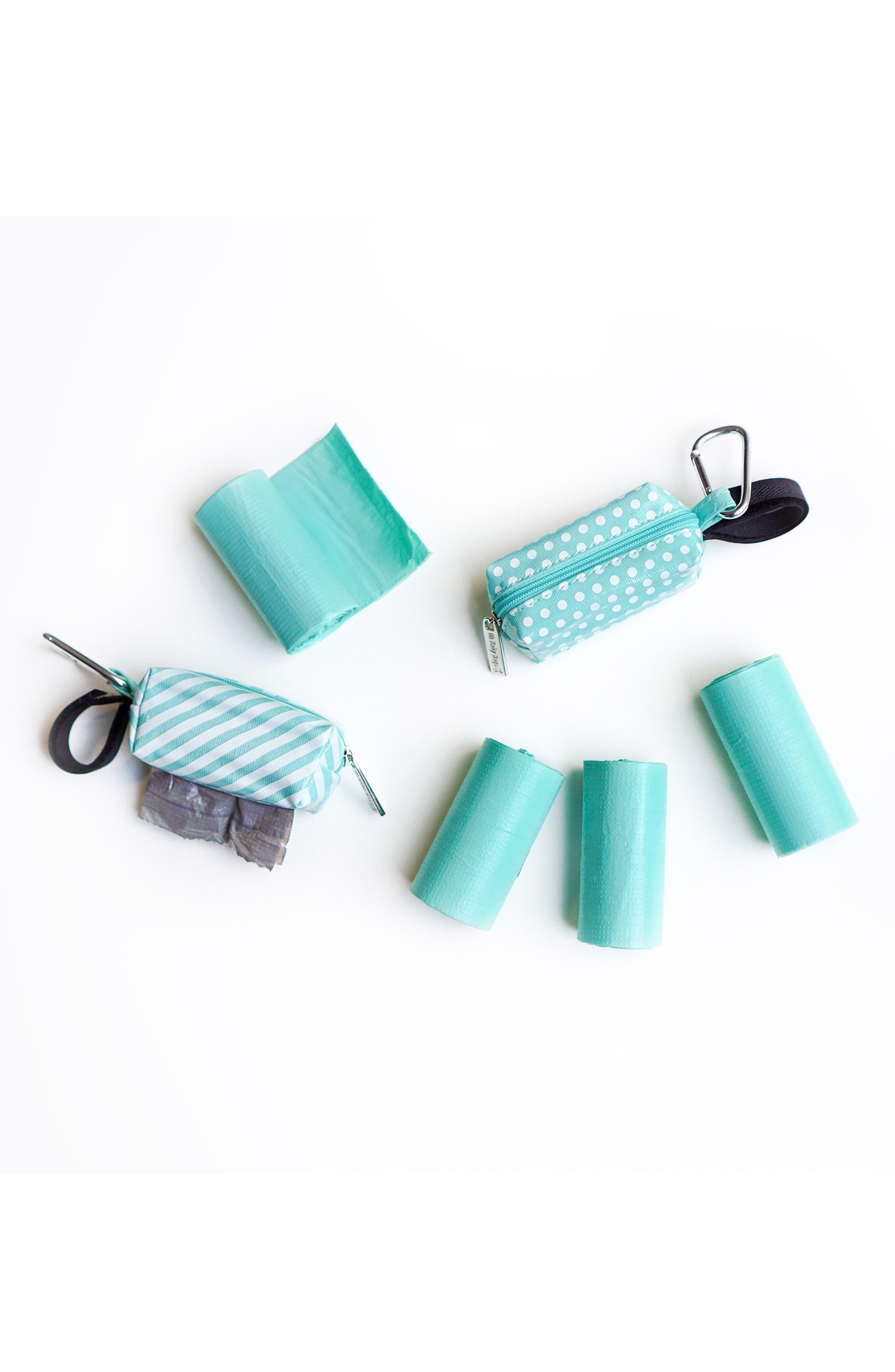 Portable Clip-On Dispenser & Bag Set,                             Alternate thumbnail 2, color,                             Seafoam