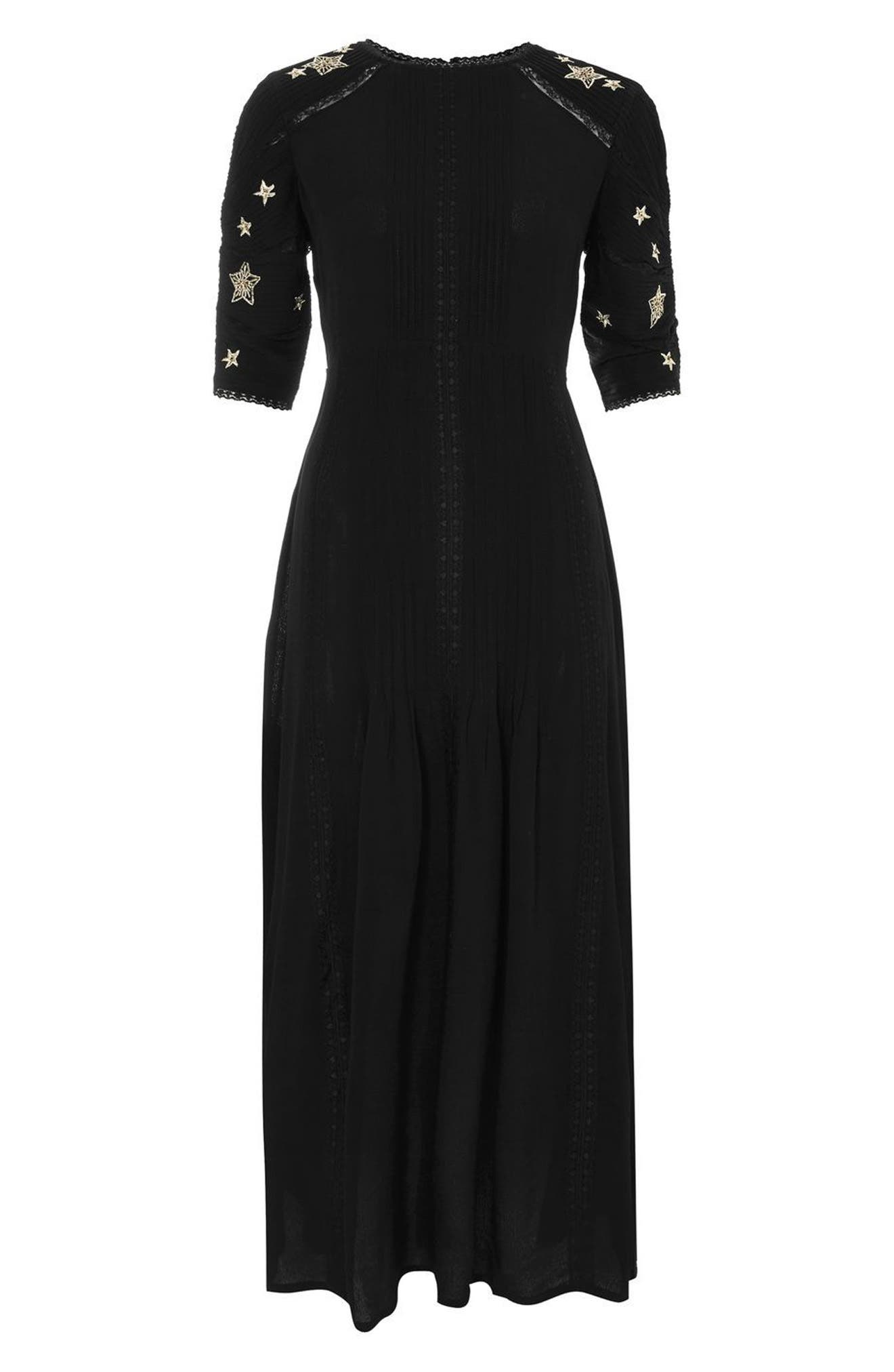 Alternate Image 3  - Topshop Star Embroidered Midi Dress