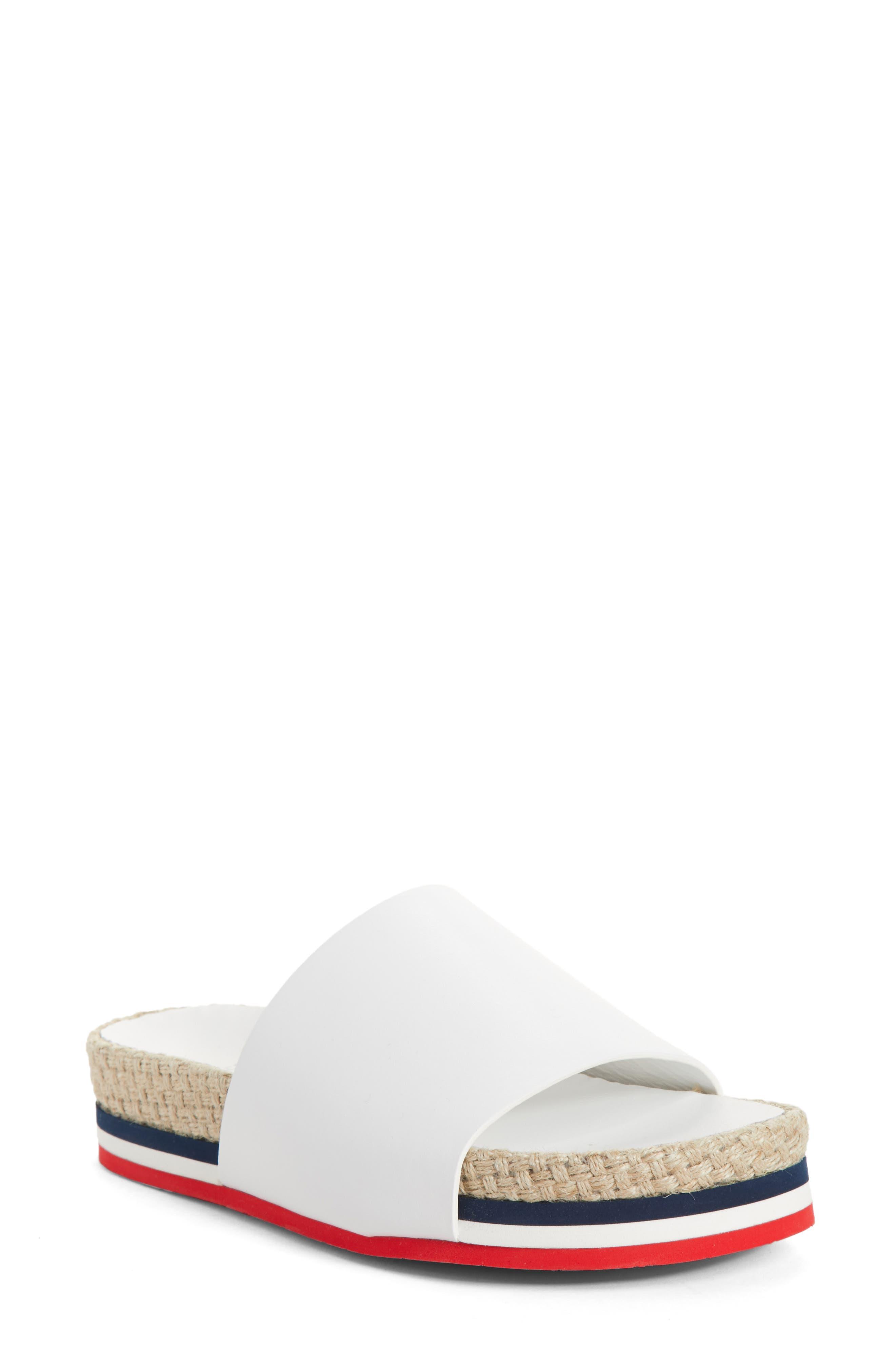Evelyne Platform Slide,                         Main,                         color, White