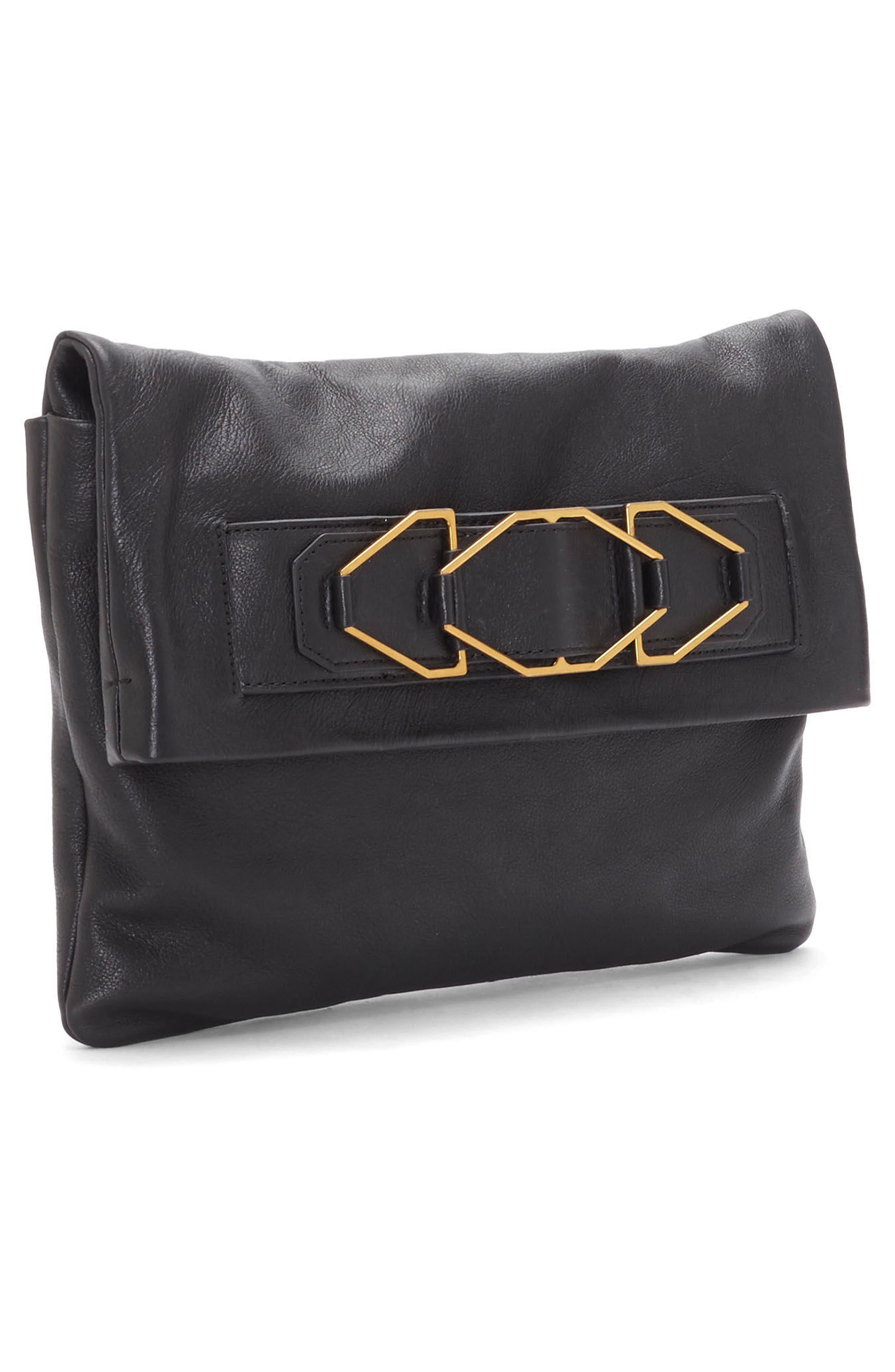 Alternate Image 4  - Vince Camuto Luk Leather Foldover Clutch