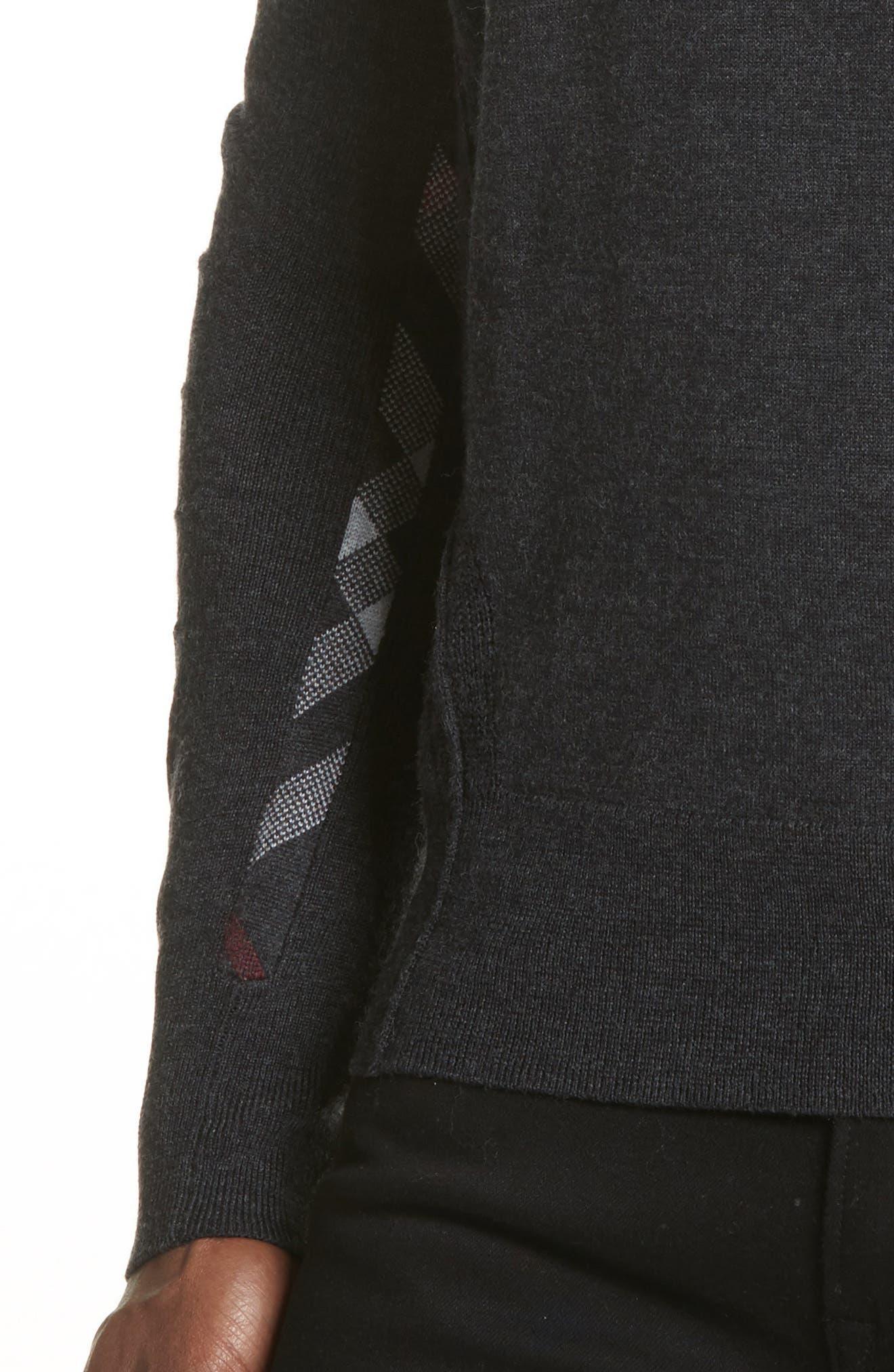 f64e1a336 Burberry Men S Carter Check-Trim Wool Sweater