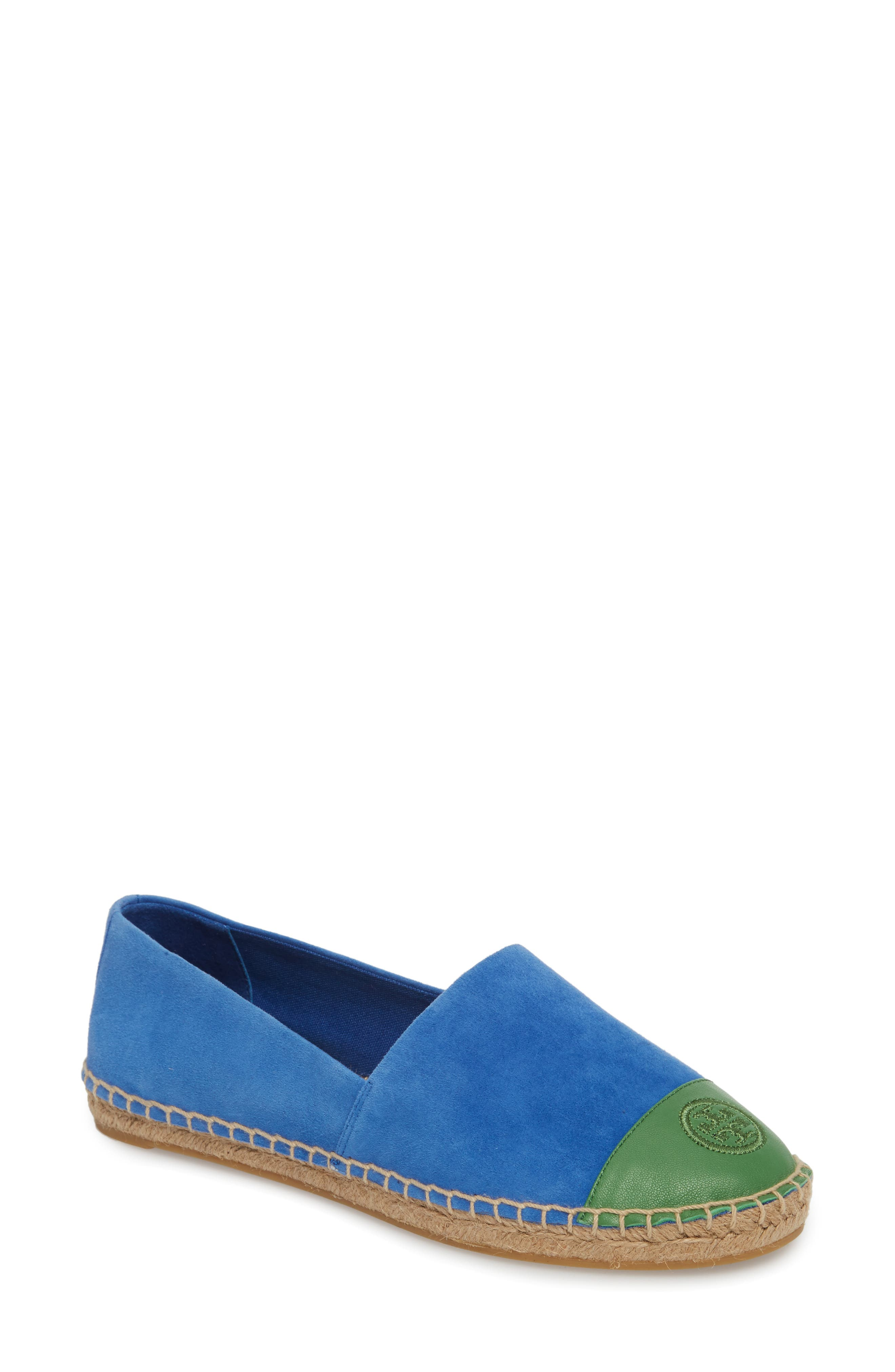Alternate Image 1 Selected - Tory Burch Colorblock Espadrille Flat (Women)