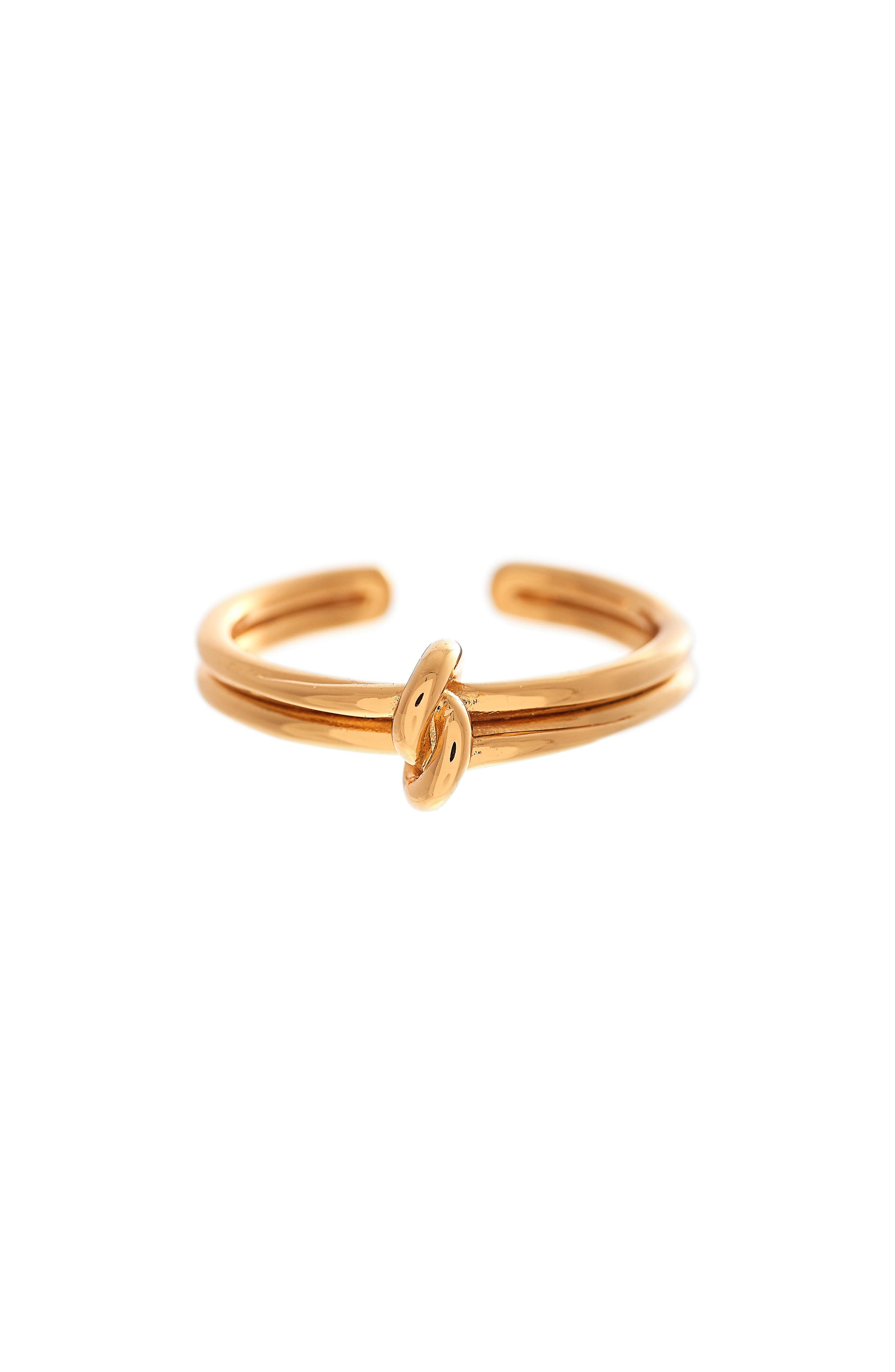 Forget Me Knot Ring,                         Main,                         color, Gold
