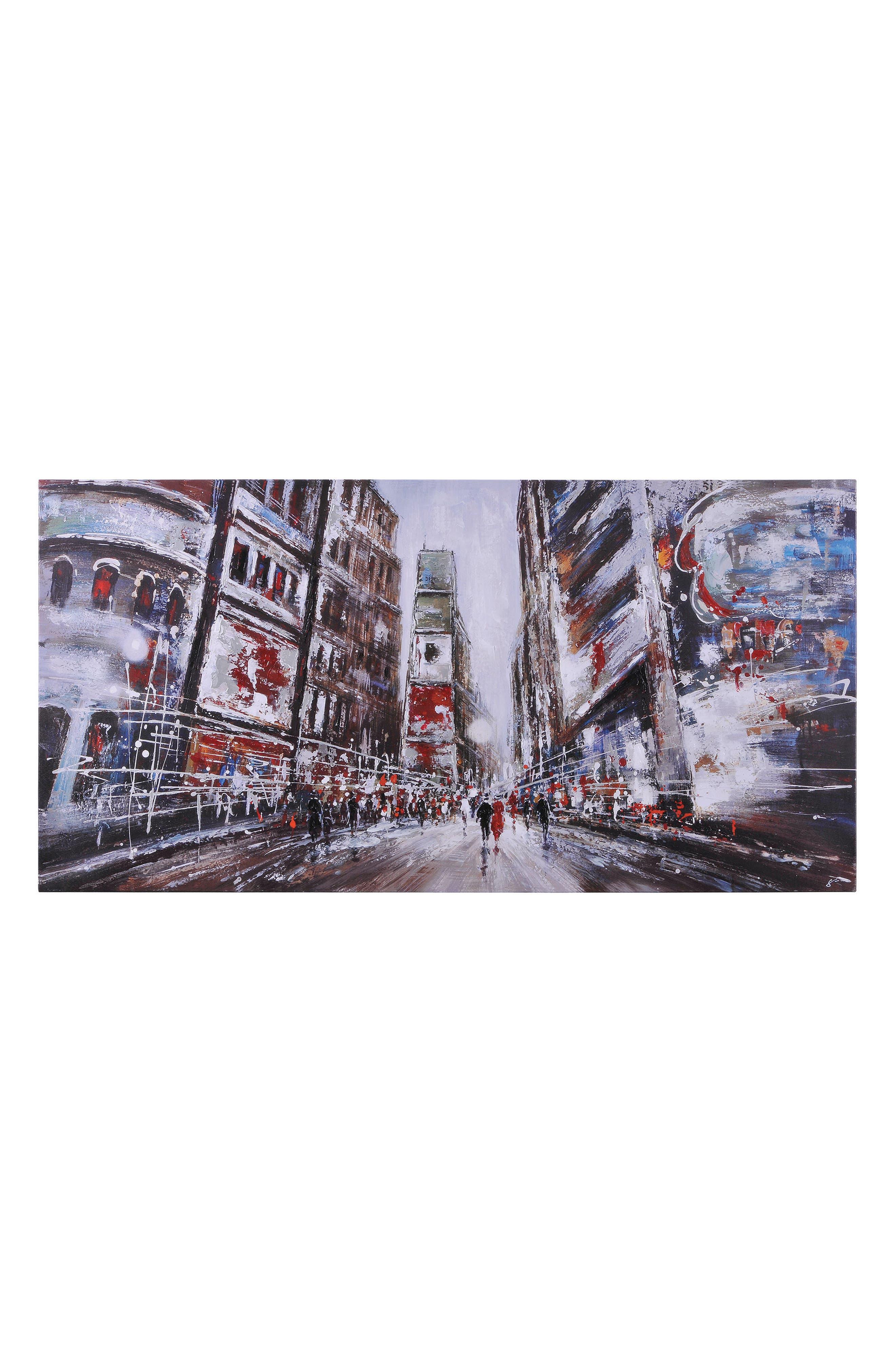 Evening In Times Square Canvas Art,                         Main,                         color, Multicolor