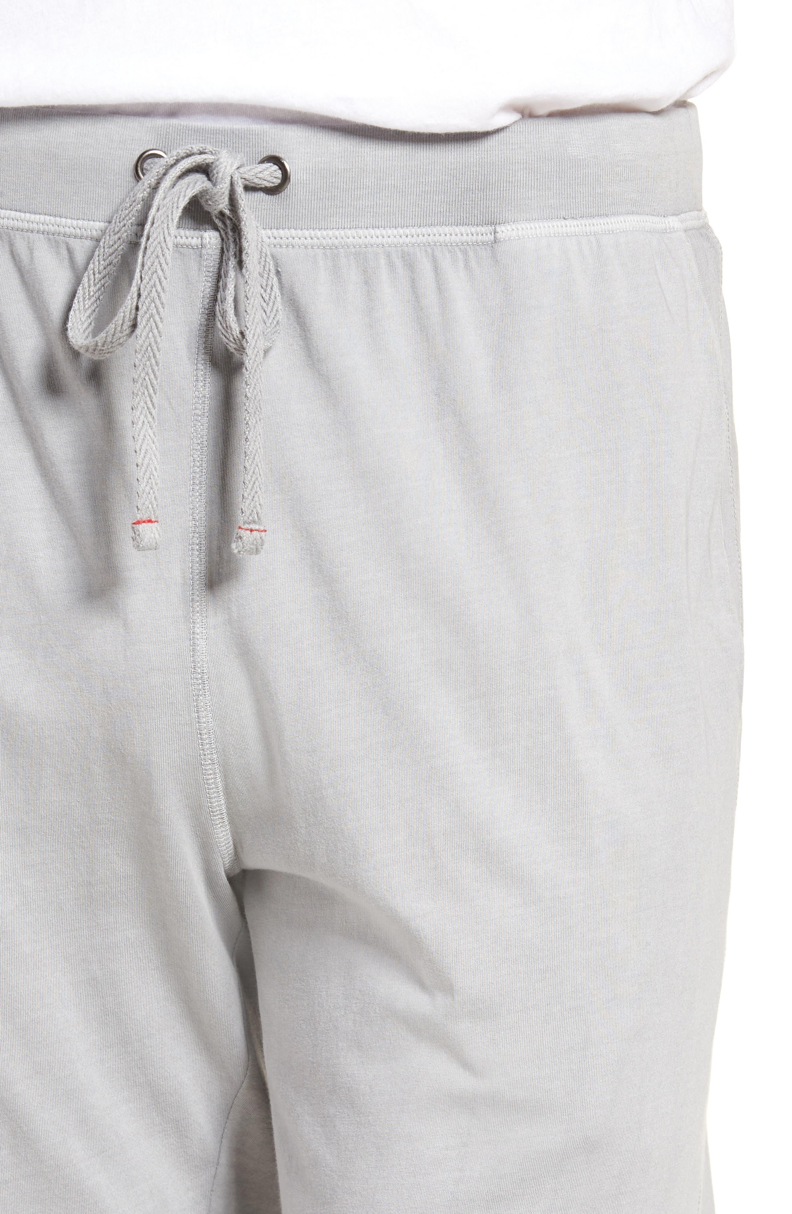 Peruvian Pima Cotton Lounge Pants,                             Alternate thumbnail 4, color,                             Grey