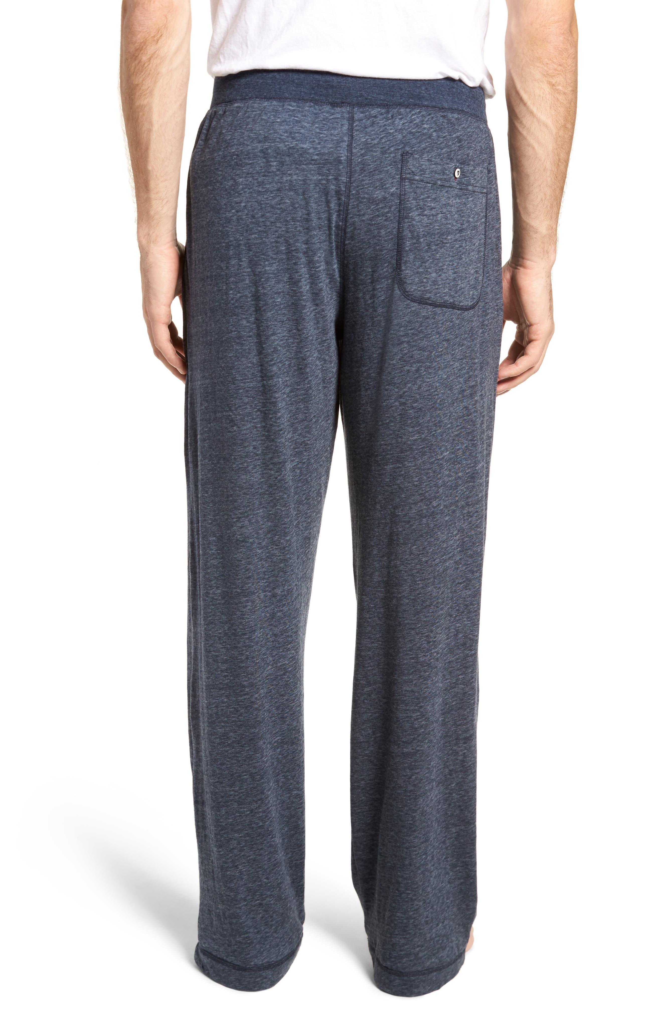 Recycled Cotton Blend Lounge Pants,                             Alternate thumbnail 2, color,                             Navy Heather