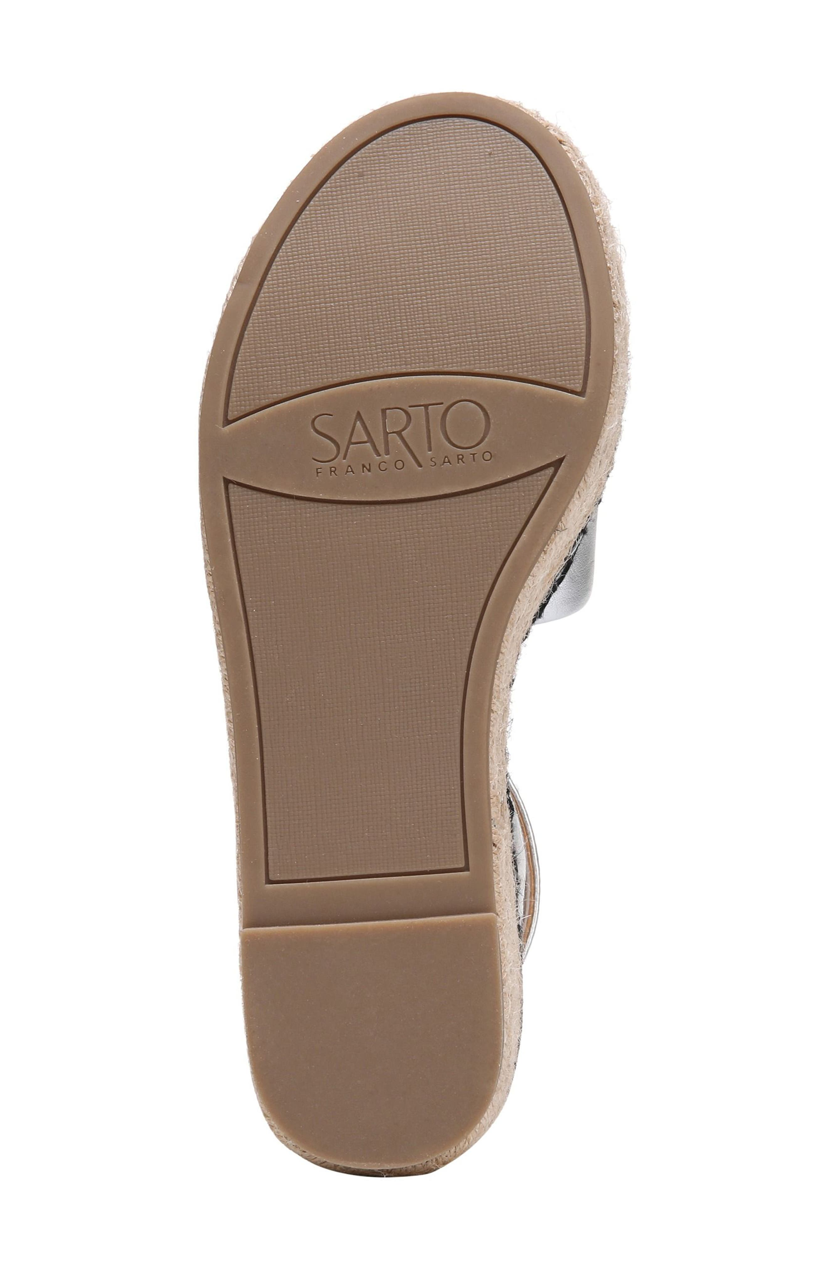 Maisi Platform Espadrille Sandal,                             Alternate thumbnail 6, color,                             Silver Leather