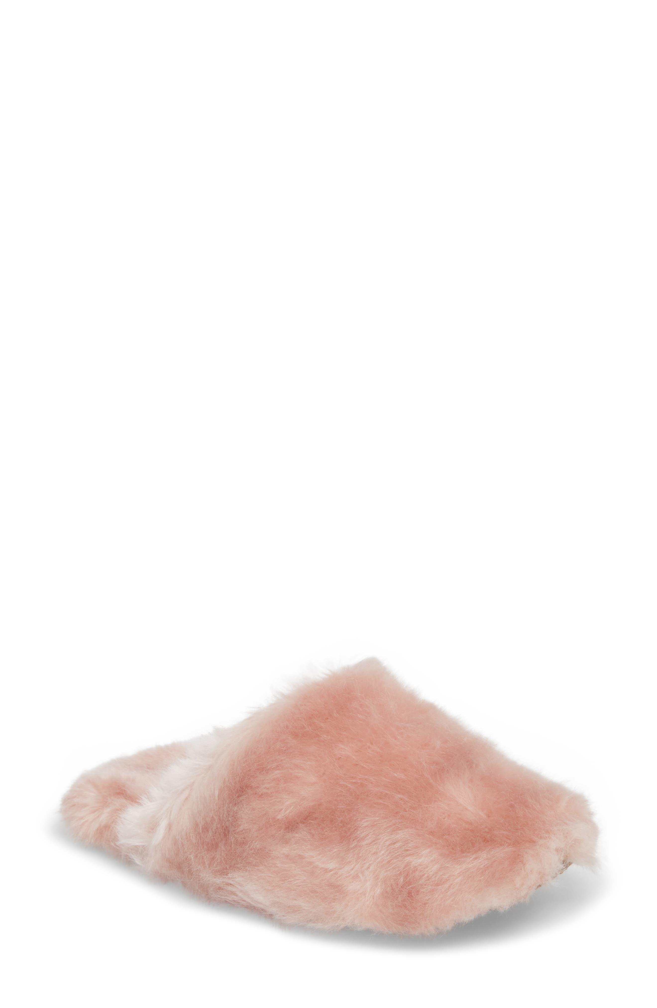 Alternate Image 1 Selected - J.Crew Faux Fur Slipper (Women)