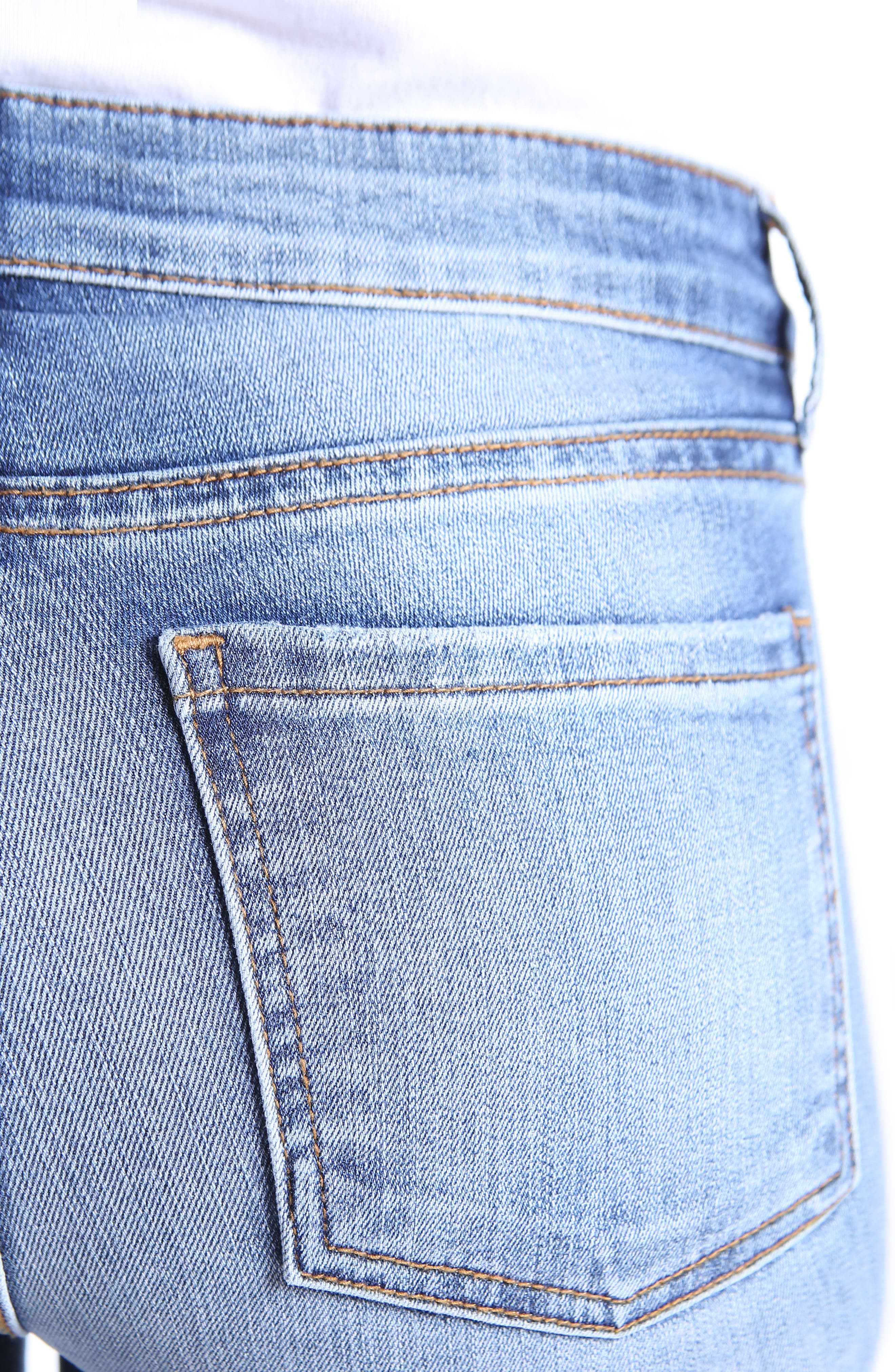 Diana Stretch Skinny Jeans,                             Alternate thumbnail 4, color,                             Clarified