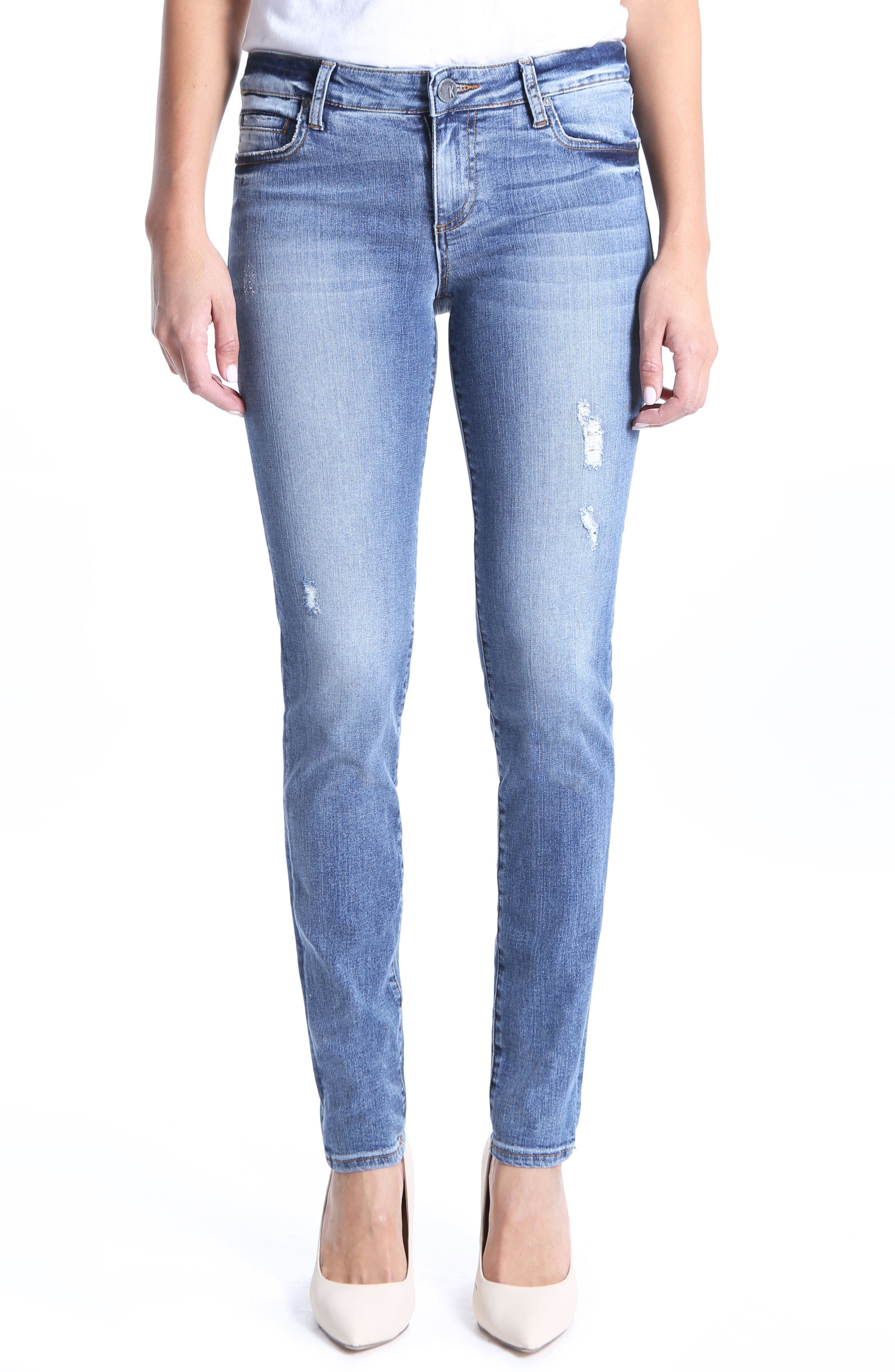 Diana Stretch Skinny Jeans,                             Main thumbnail 1, color,                             Clarified