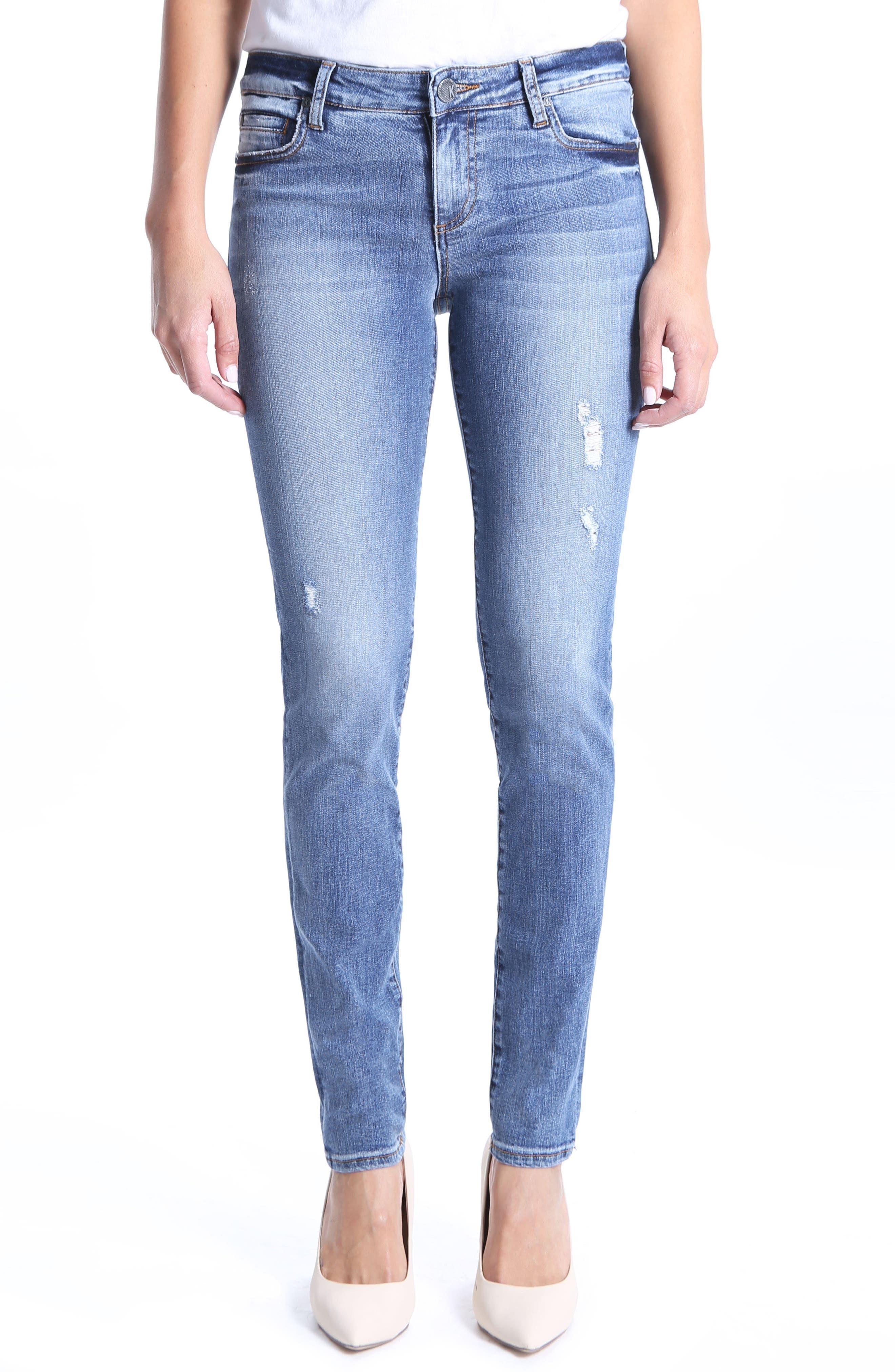 Diana Stretch Skinny Jeans,                         Main,                         color, Clarified