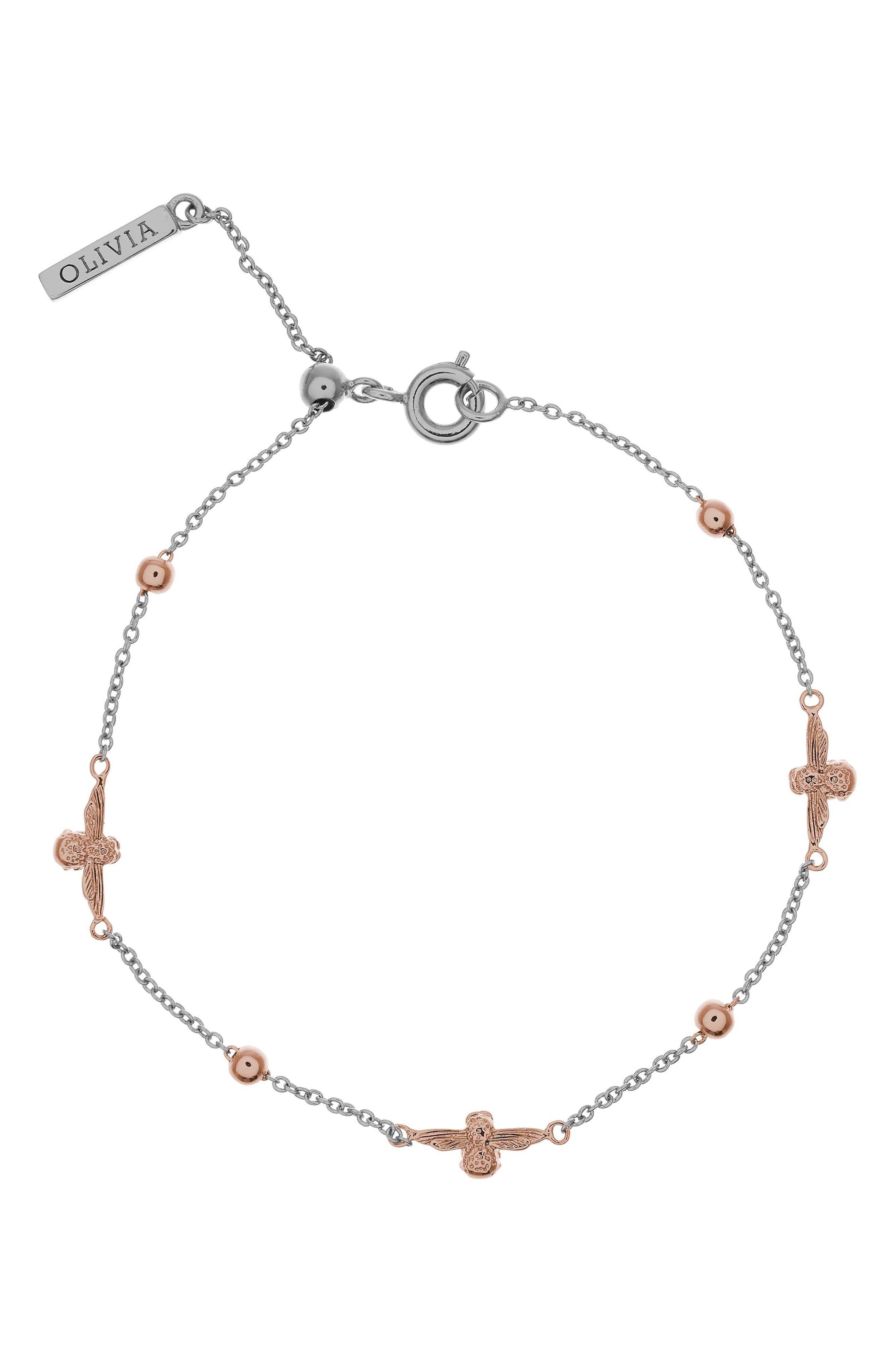 Olivia Burton Queen Bee Ball Chain Bracelet