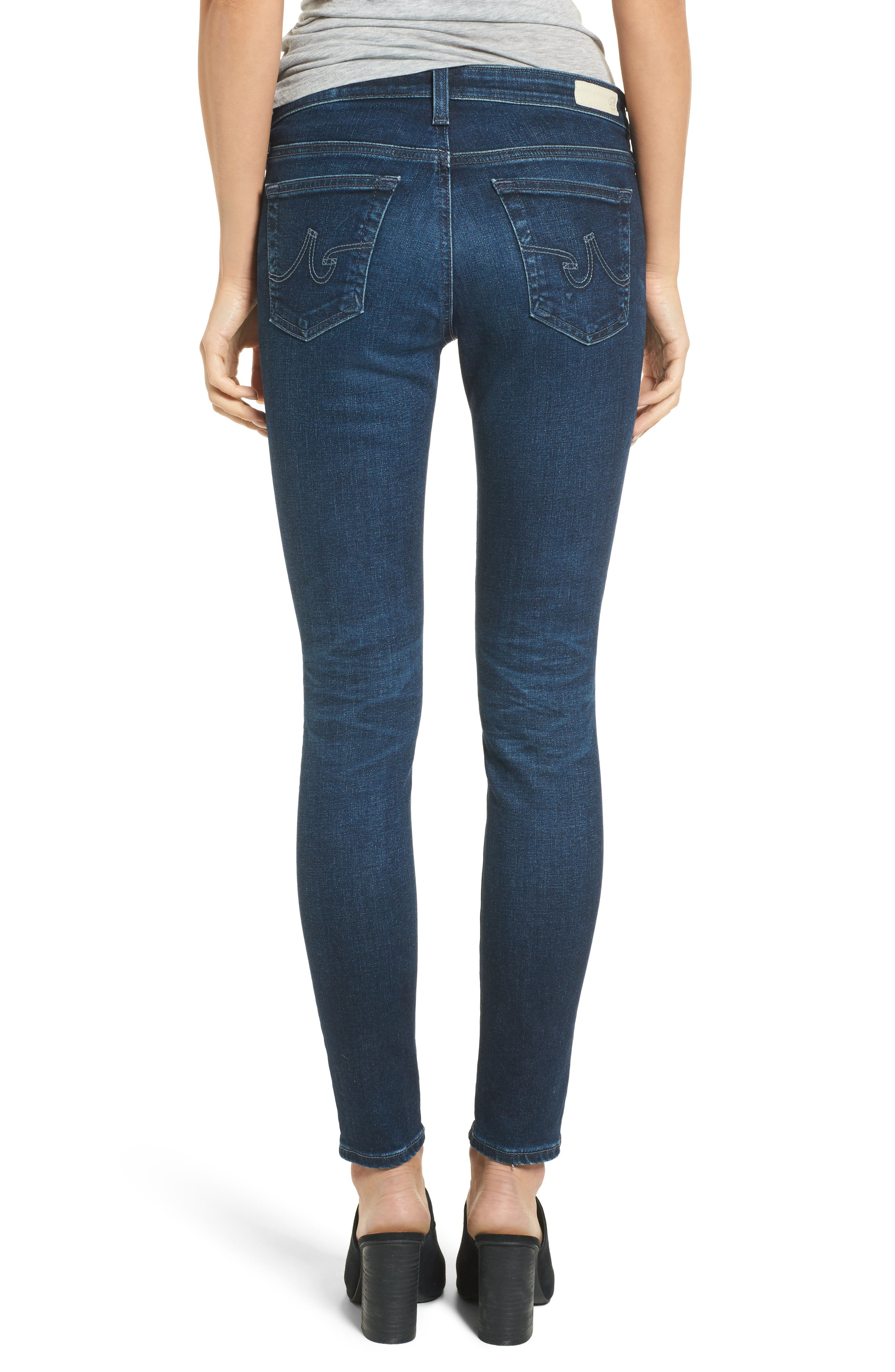 Alternate Image 2  - AG The Legging Ankle Super Skinny Jeans (04 Years Rapid)