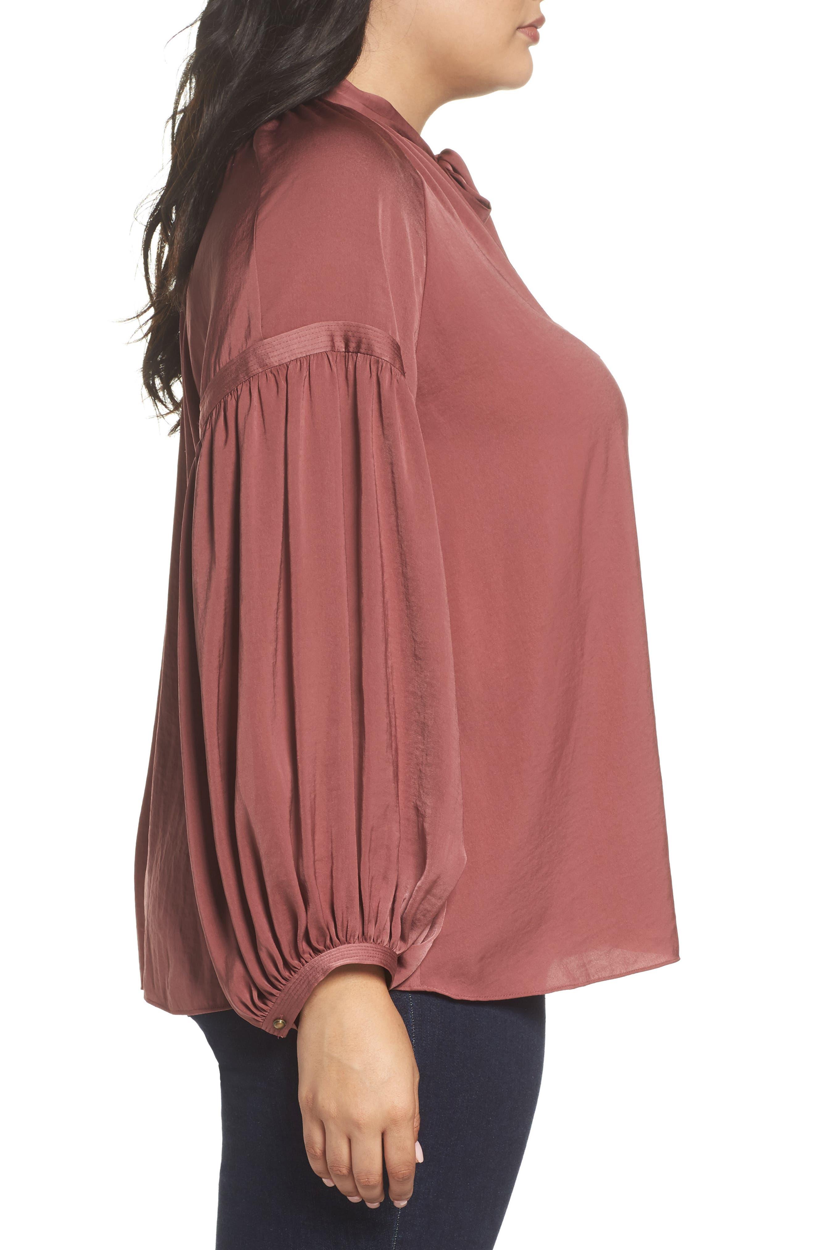 Alternate Image 3  - Lucky Brand Jenna Peasant Top (Plus Size)