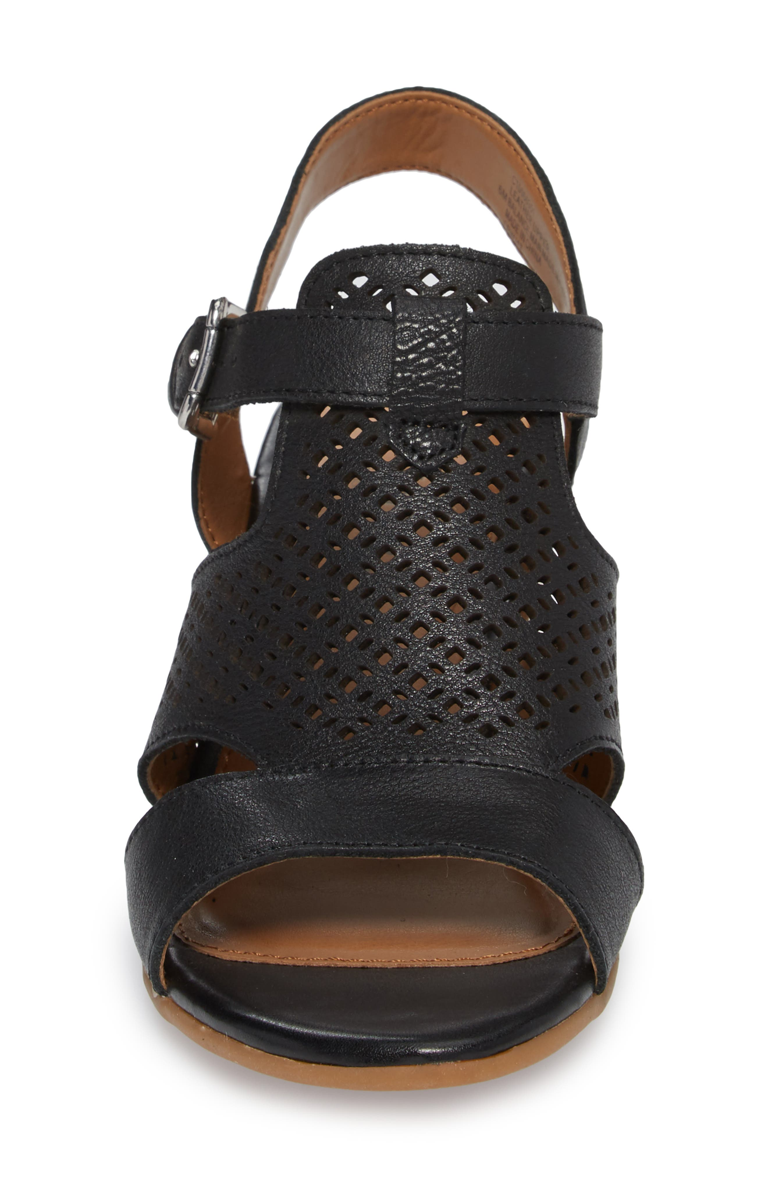 Alternate Image 4  - Comfortiva Amber Perforated Block Heel Sandal (Women)