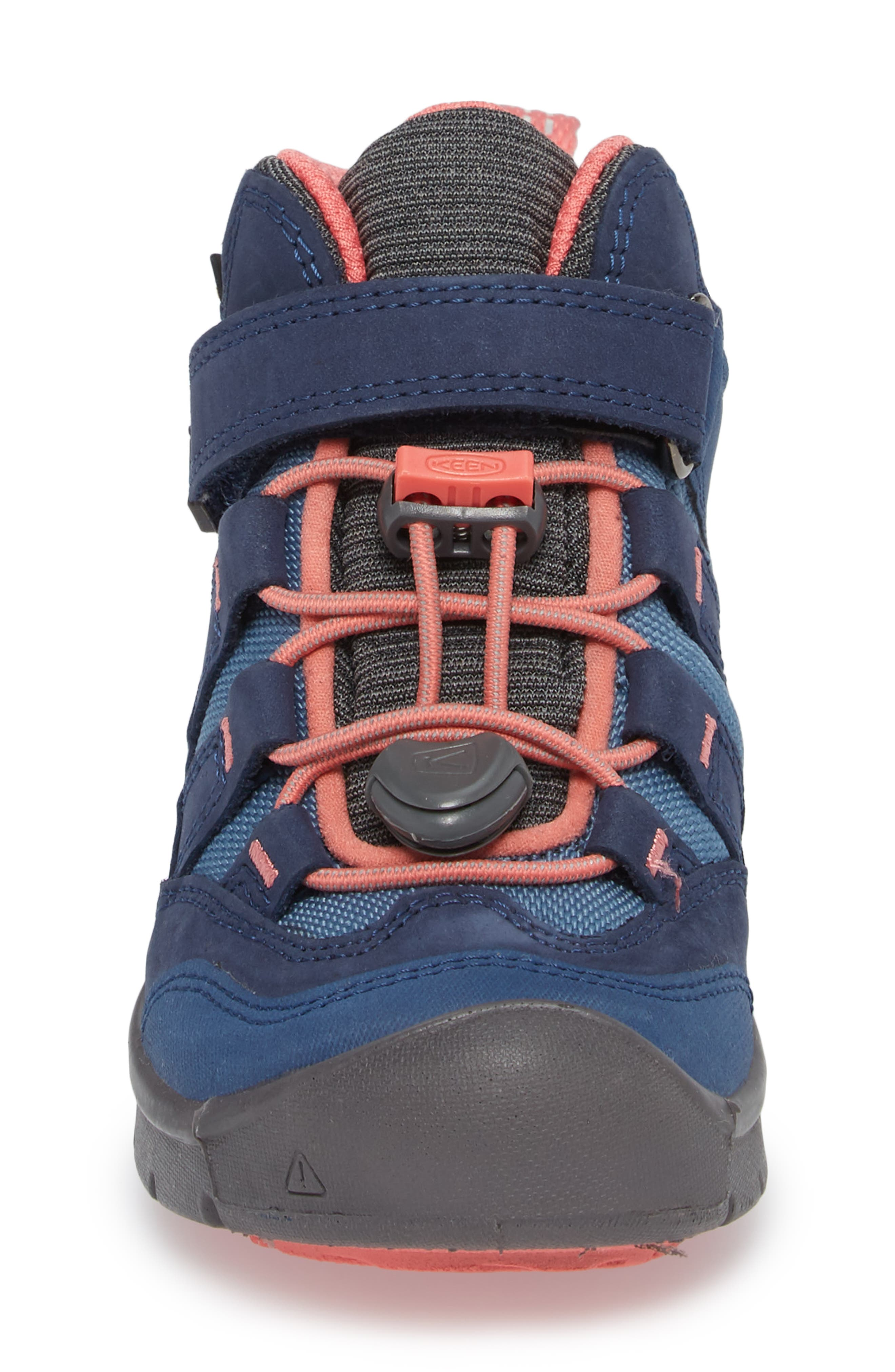 Hikeport Strap Waterproof Mid Boot,                             Alternate thumbnail 4, color,                             Dress Blues/ Sugar Coral