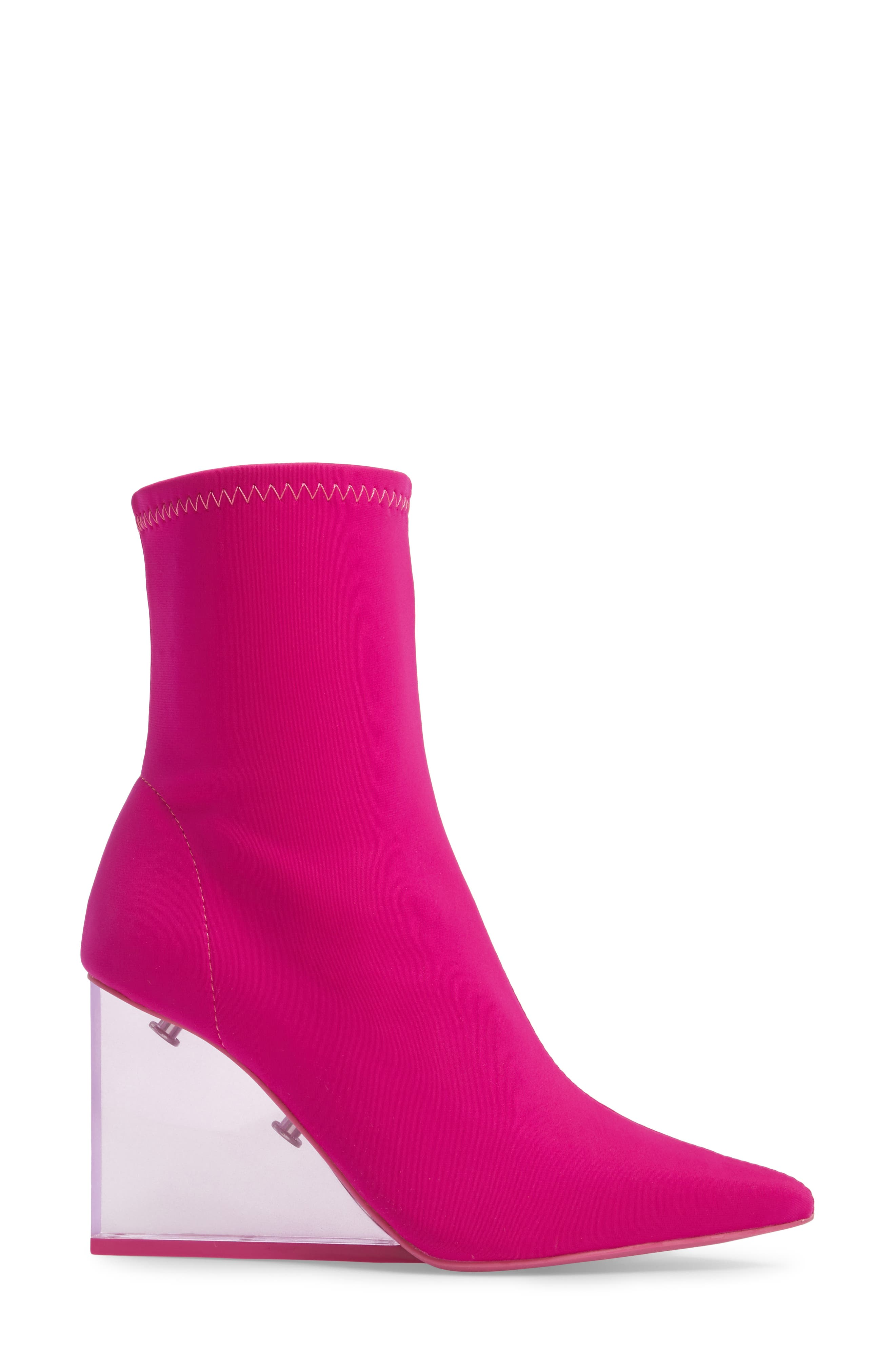 Alternate Image 3  - Jeffrey Campbell Siren Clear Wedge Sock Bootie (Women)