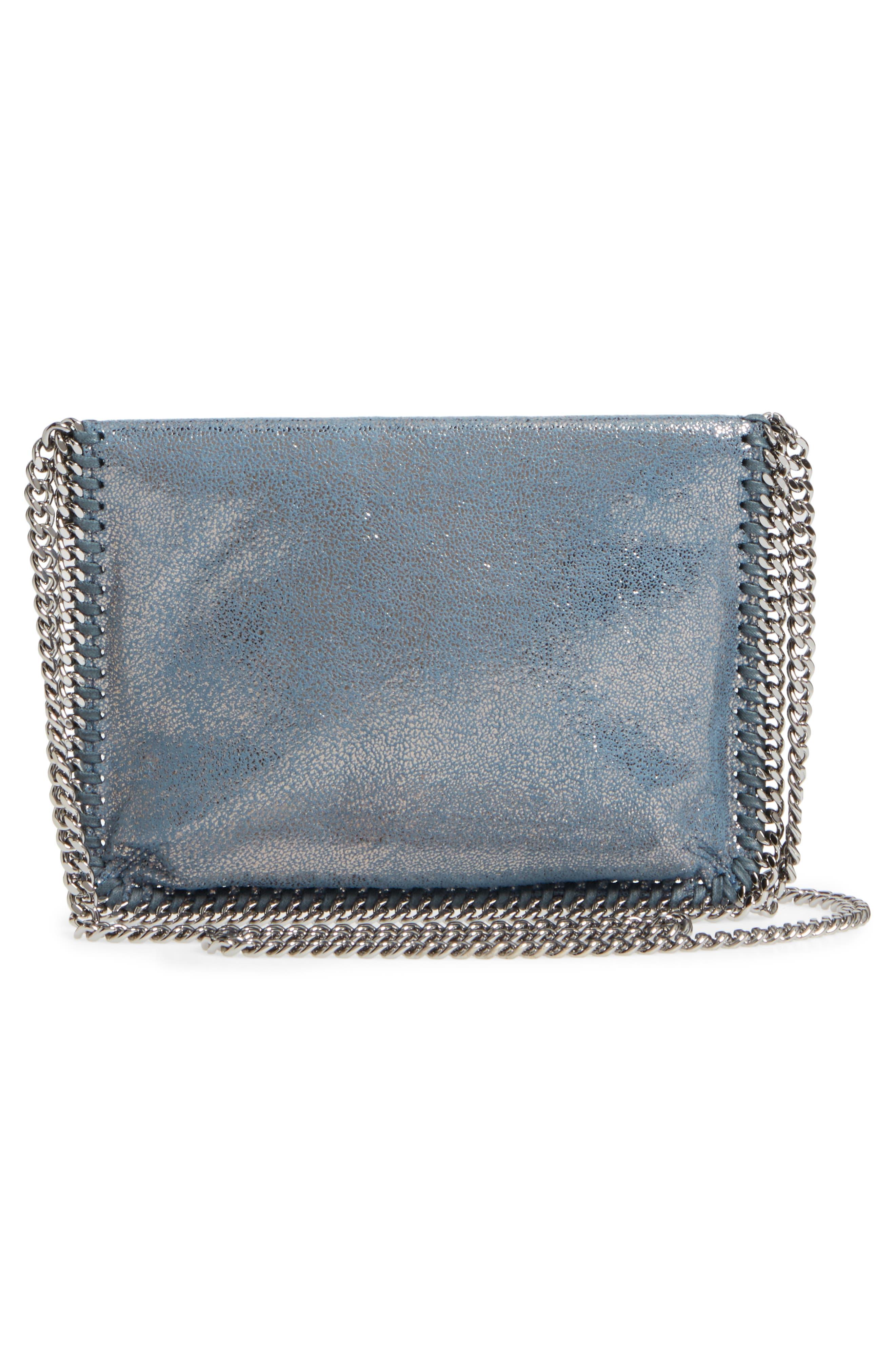 Alternate Image 3  - Stella McCartney Metallic Faux Leather Crossbody Bag
