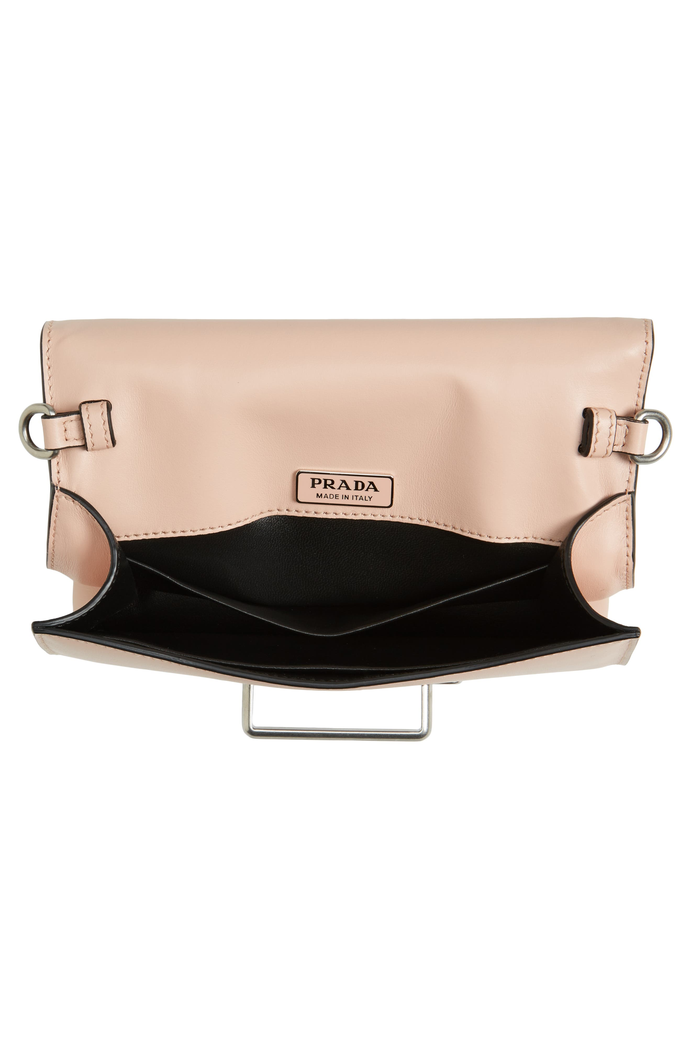 Small Cahier Leather Shoulder Bag,                             Alternate thumbnail 5, color,                             Pesca